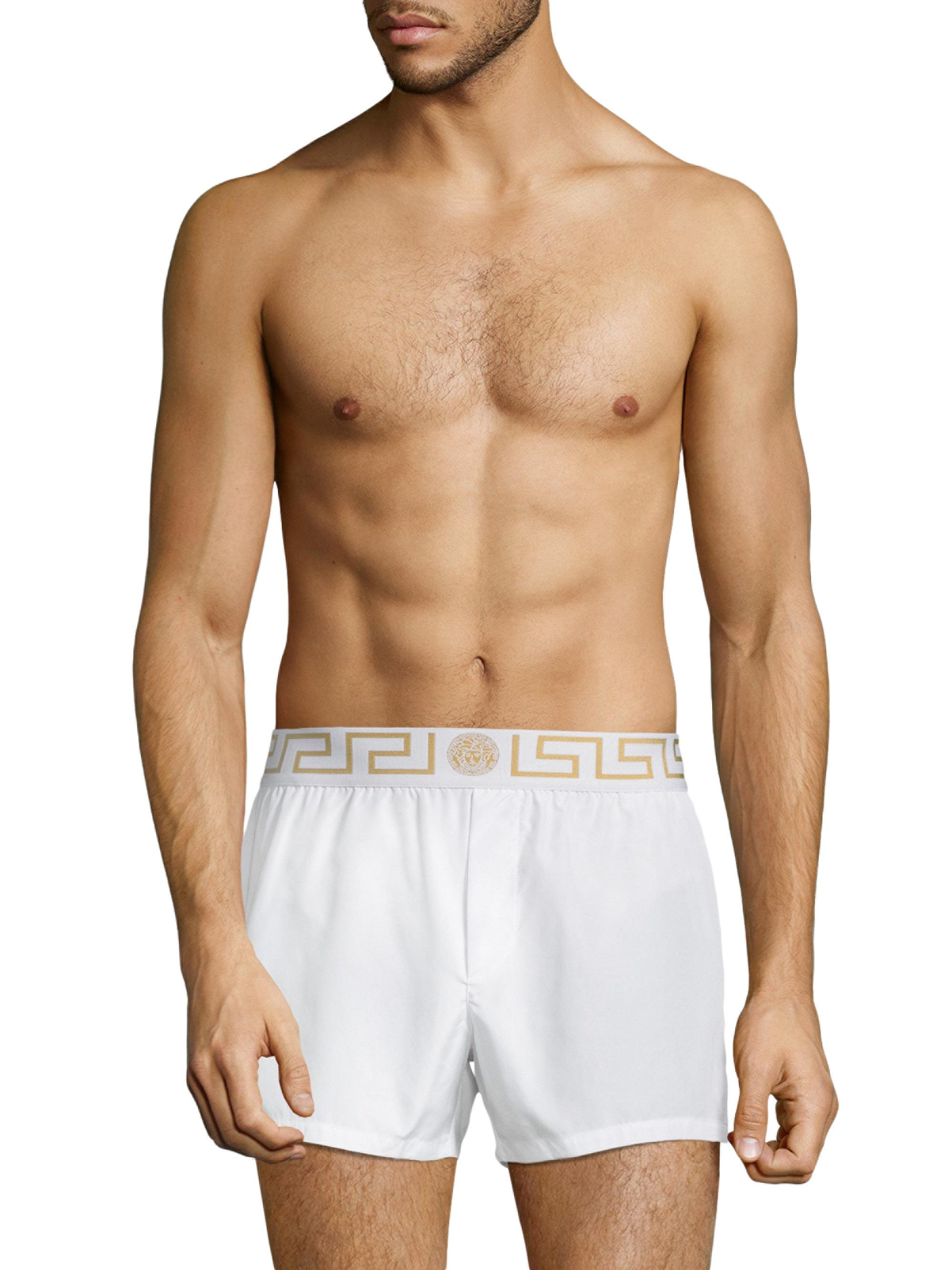 Lyst - Versace Swim Shorts in White for Men 948913799
