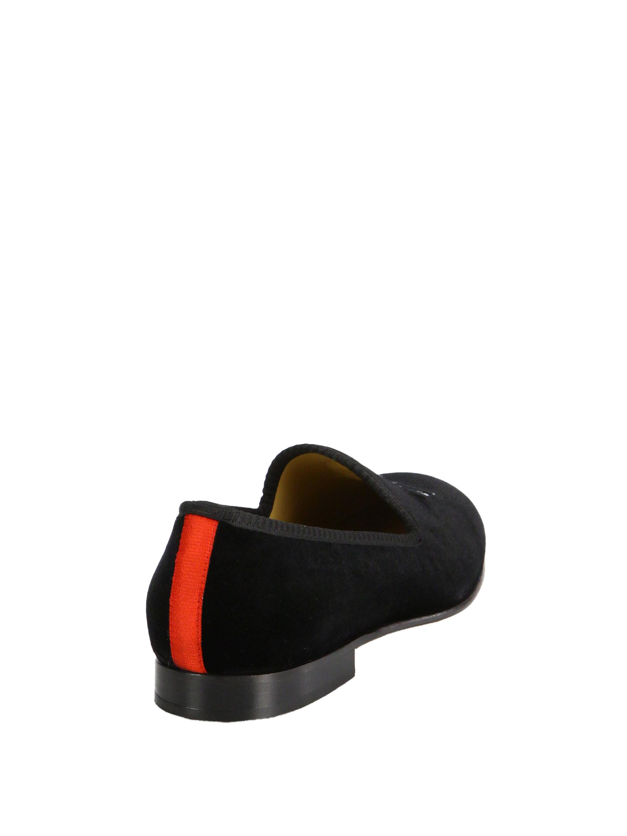 DEL TORO Velvet Skull Slip-On Loafers