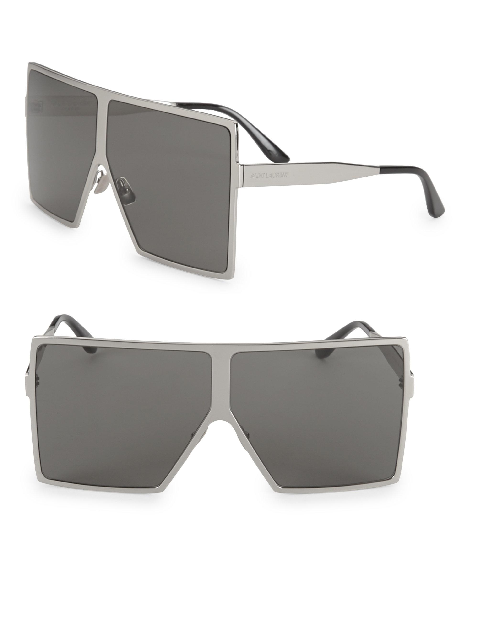 b6e9cbbd246 Saint Laurent 68mm Betty Shield Sunglasses in Metallic for Men - Lyst