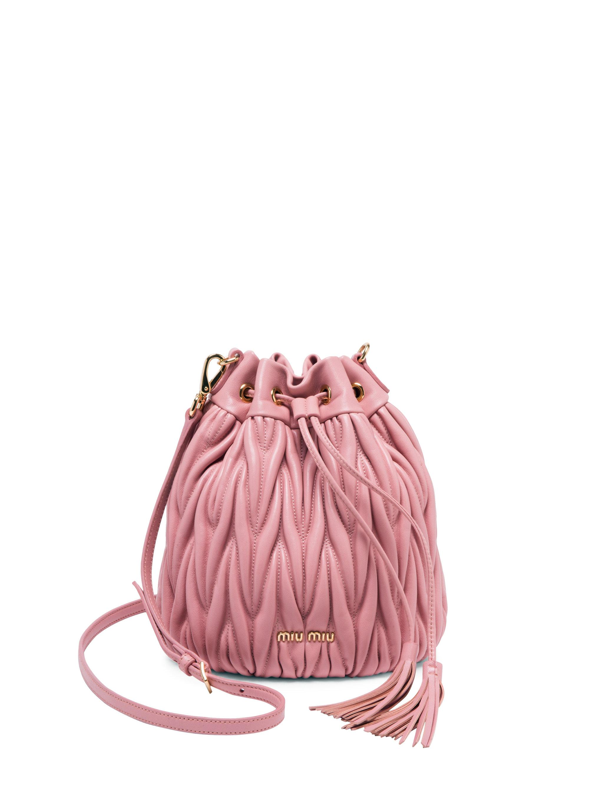 3879509c8a85 Gallery. Previously sold at  Saks Fifth Avenue · Women s Bucket Bags  Women s Leather Bags Women s Miu ...