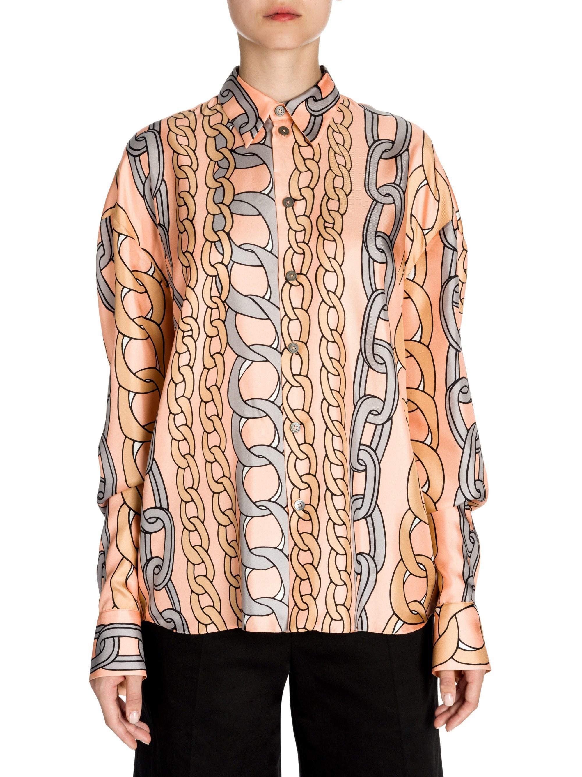 30d7c776f2 Lyst - Marni Silk Twill Button-down Chain Print Shirt