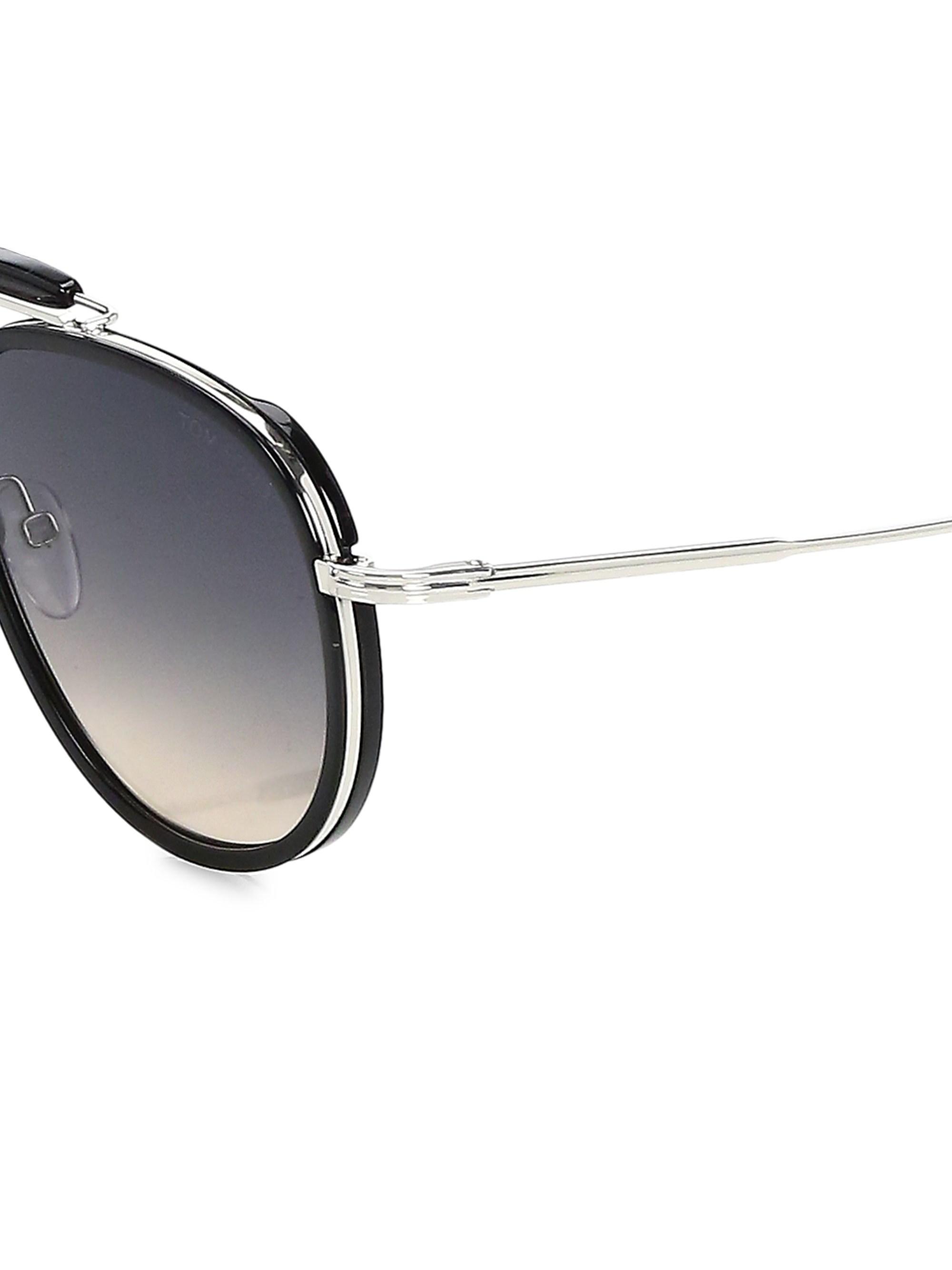 9b5cabb0ba862 Tom Ford - Men s Tripp 58mm Aviator Sunglasses - Black for Men - Lyst. View  fullscreen