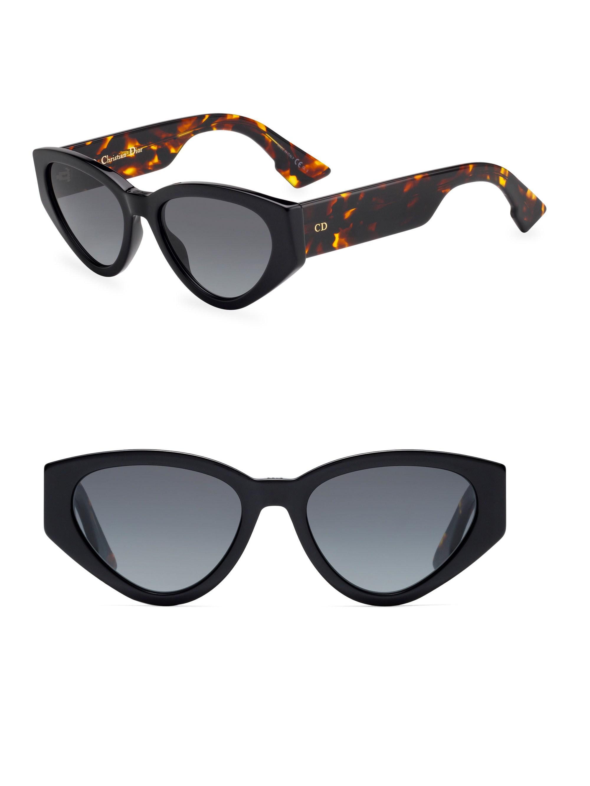 74e364f6490 Dior Spirit2 Retro Oval 52mm Sunglasses in Black - Lyst