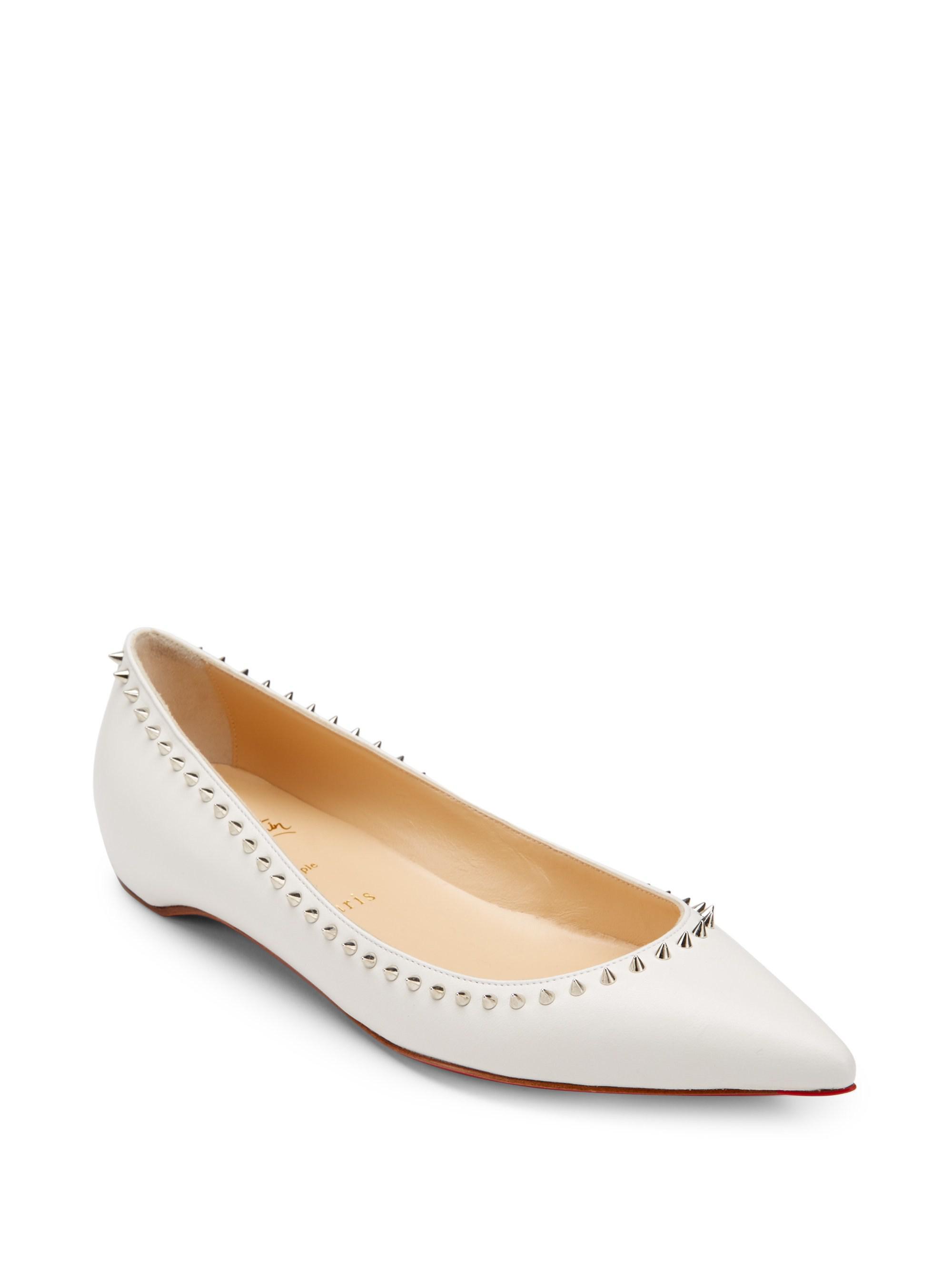 5f045ce7f Christian Louboutin. Women's Anjalina Studded Leather Flats