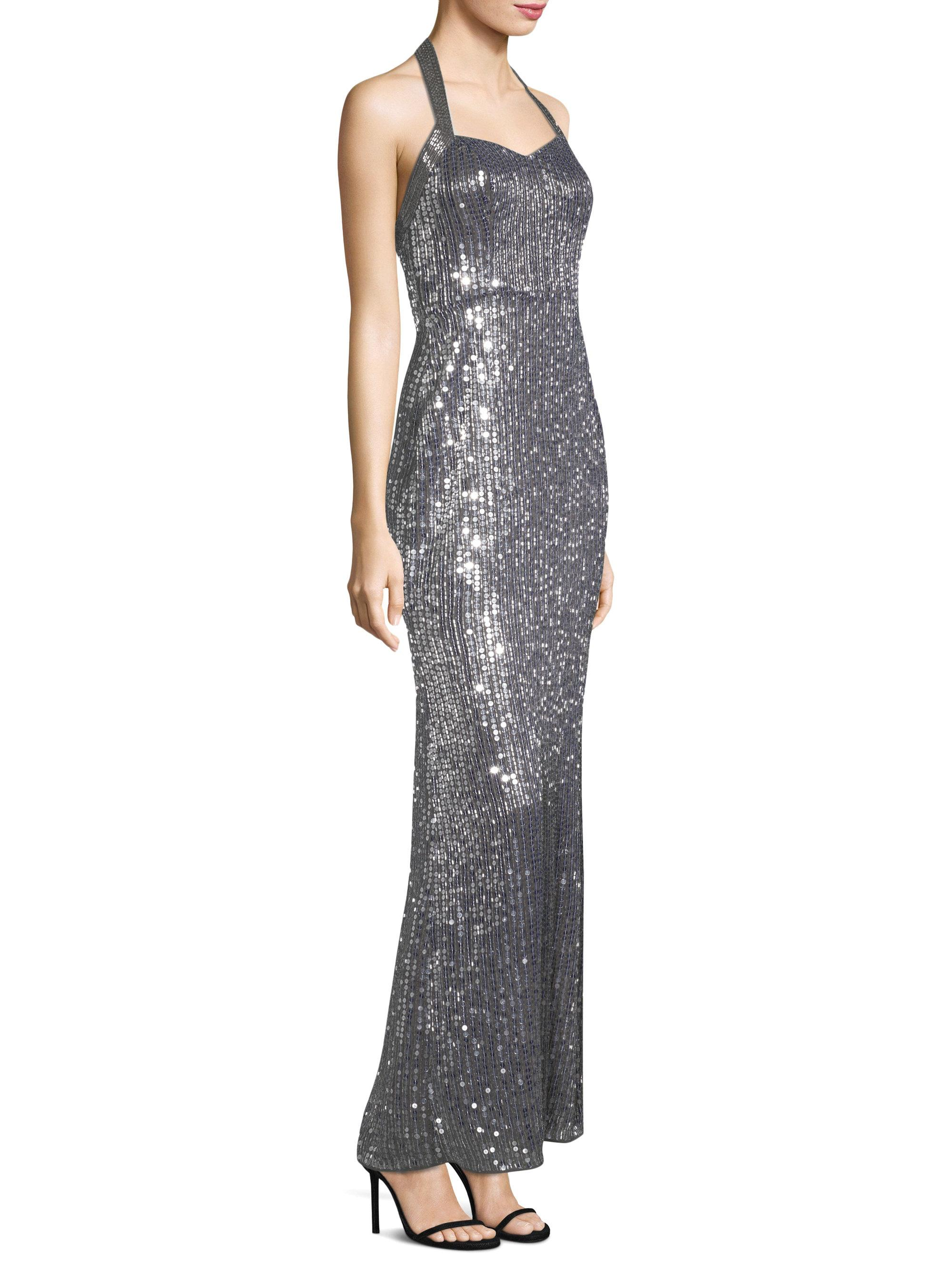 993b2432330 Parker Black Women s Sophie Sequin Gown - Grey - Size 2 in Gray - Lyst