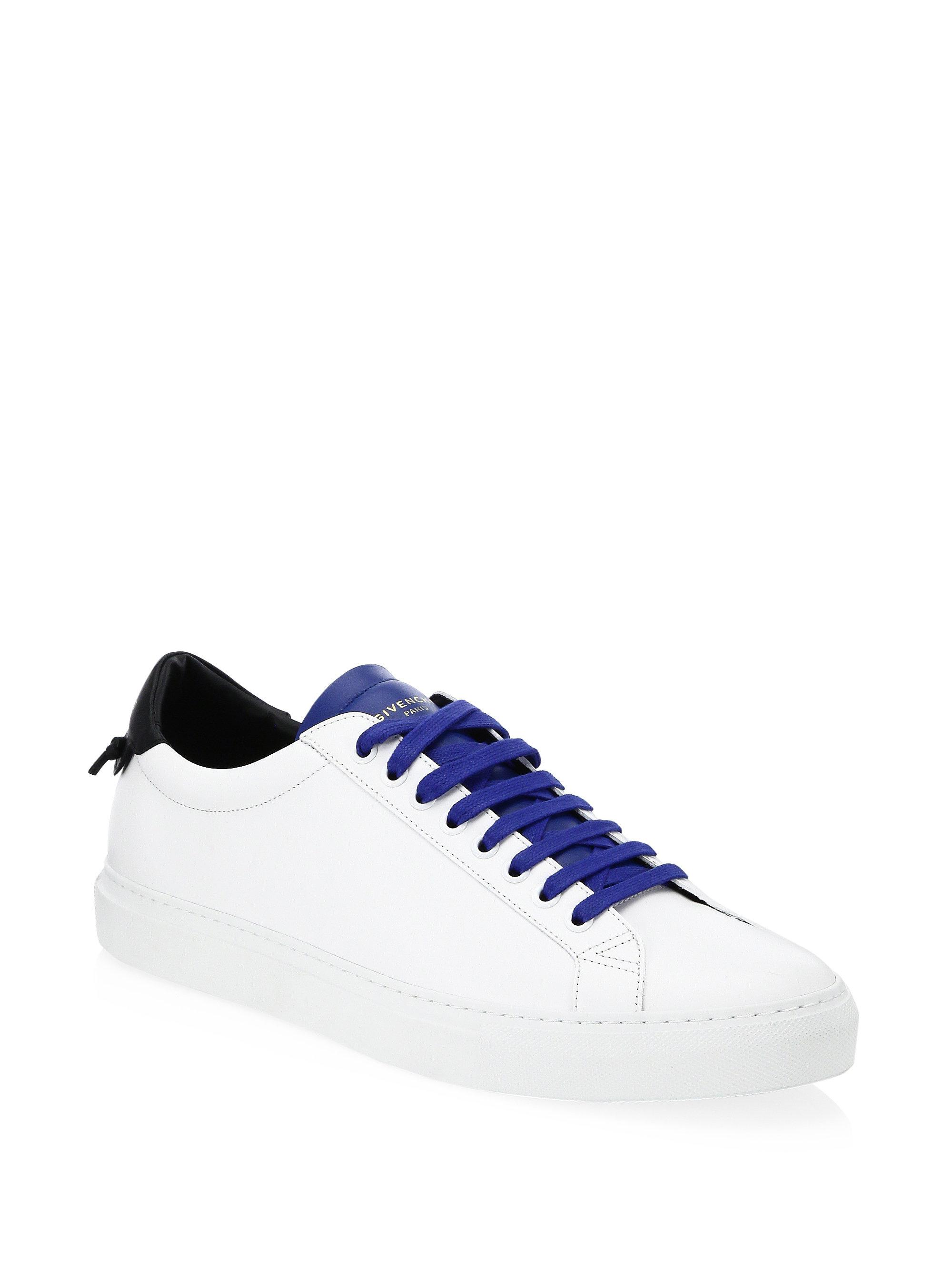 GivenchyLace-Up Leather Sneakers