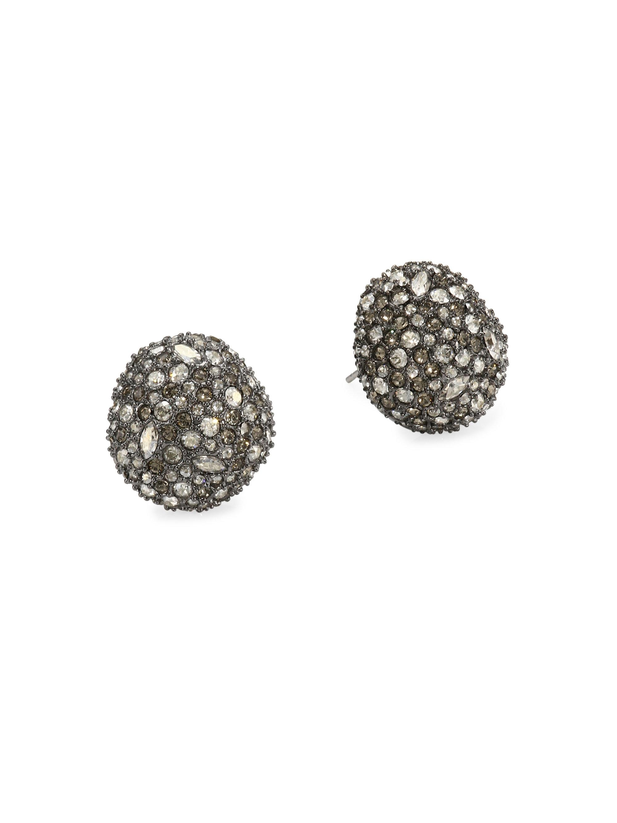 Alexis Bittar Crystal Encrusted Button Stud Earrings maQE7cYnm