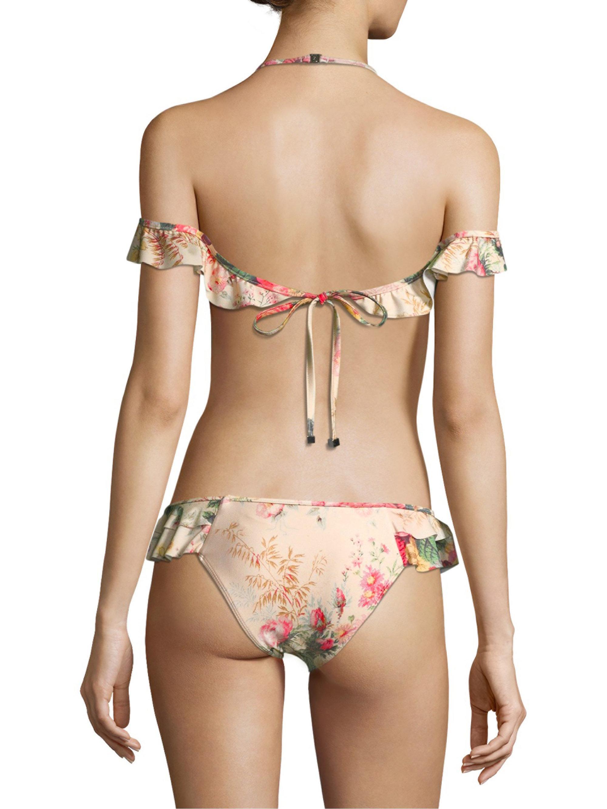 b70976c800816 Zimmermann Two-piece Melody Shoulder-frill Bikini - Lyst