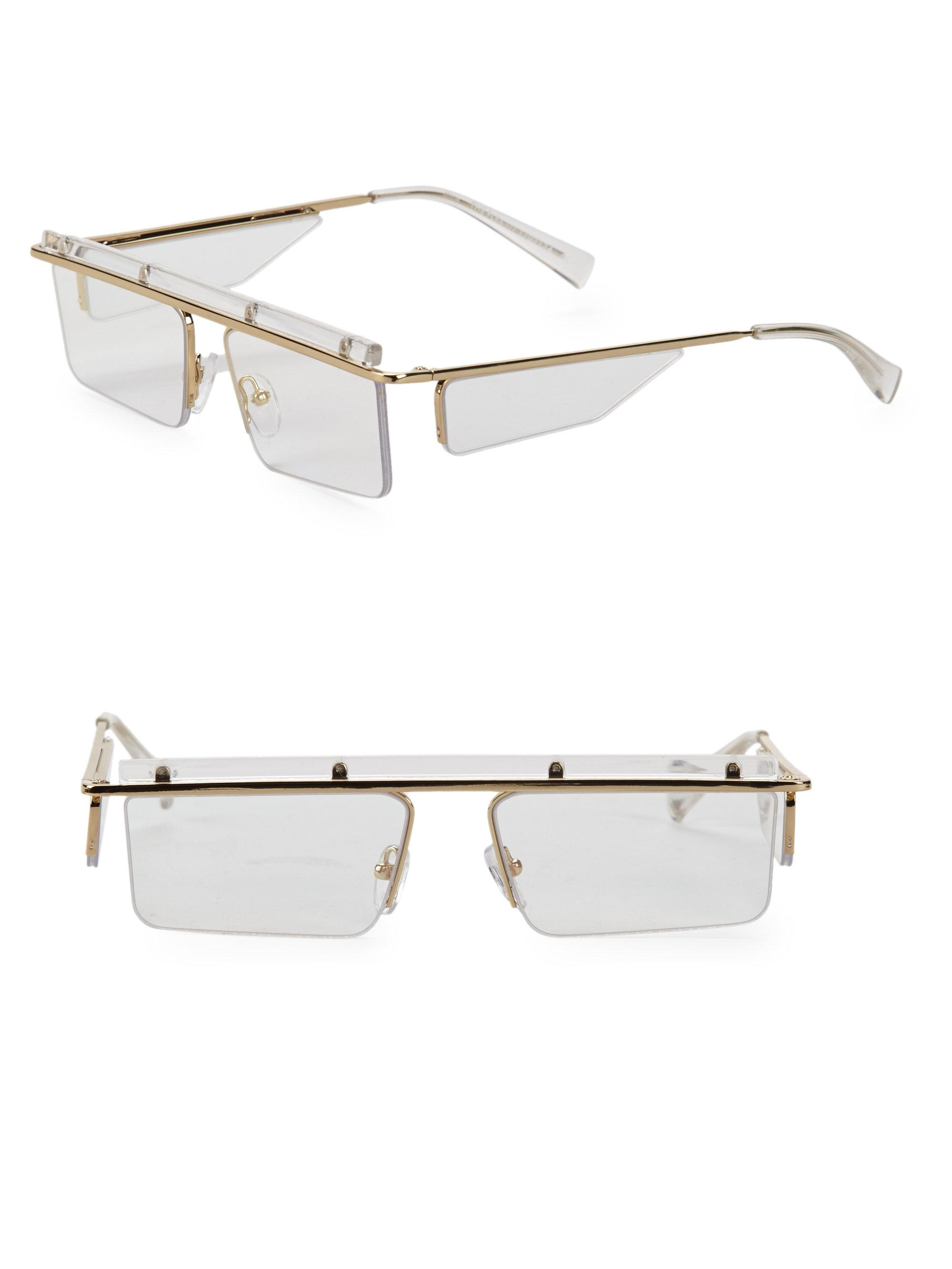 39451ebdb Le Specs The Flex Clear Semi-charmed Sunglasses in Metallic - Lyst