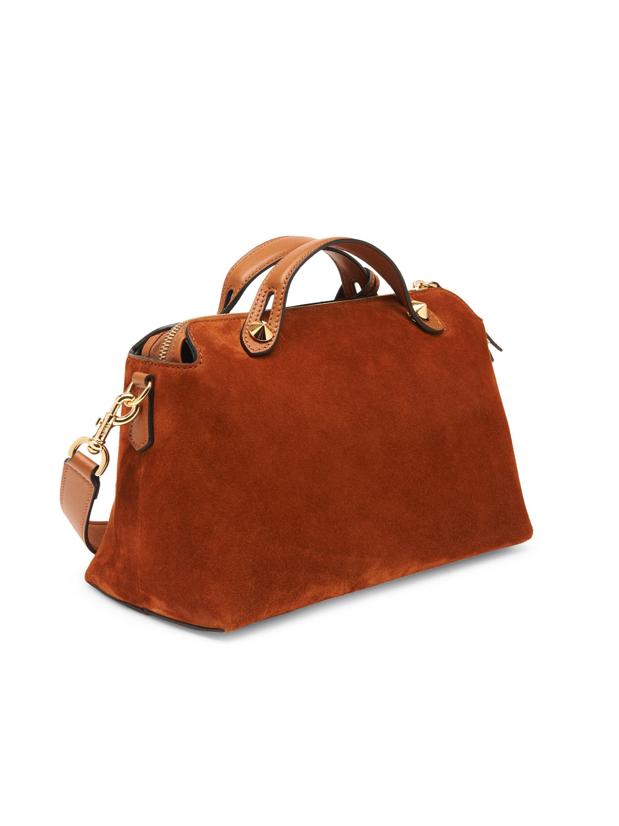 bc8402802890 Fendi Women s Medium By The Way Suede Shoulder Bag - Tan in Brown - Lyst