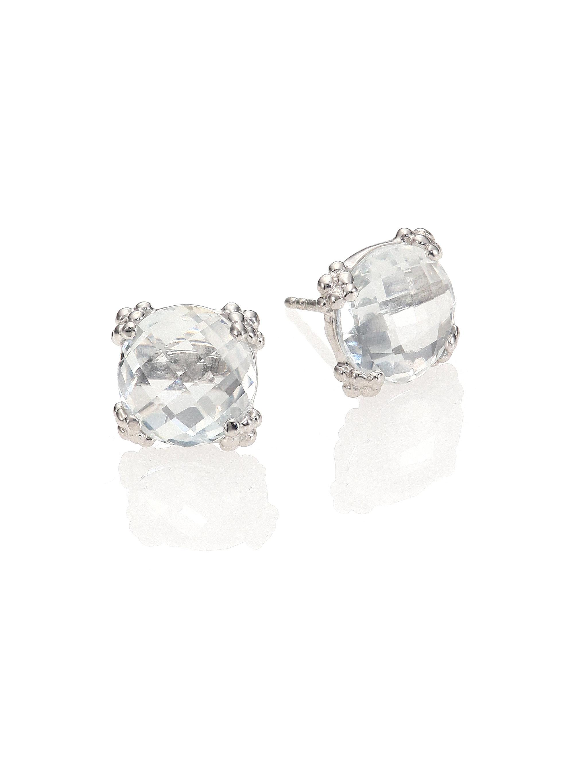 white round stud back in lever leverback topaz gold earrings