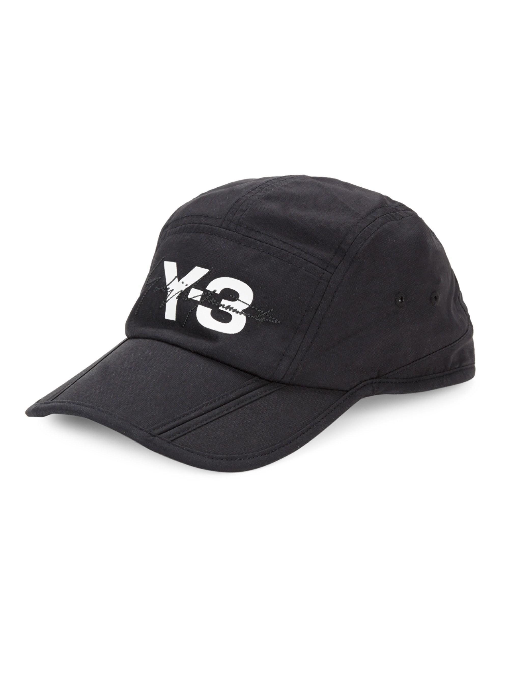 Y-3 Foldable Baseball Cap in Black for Men - Lyst cc58dd7a0f03