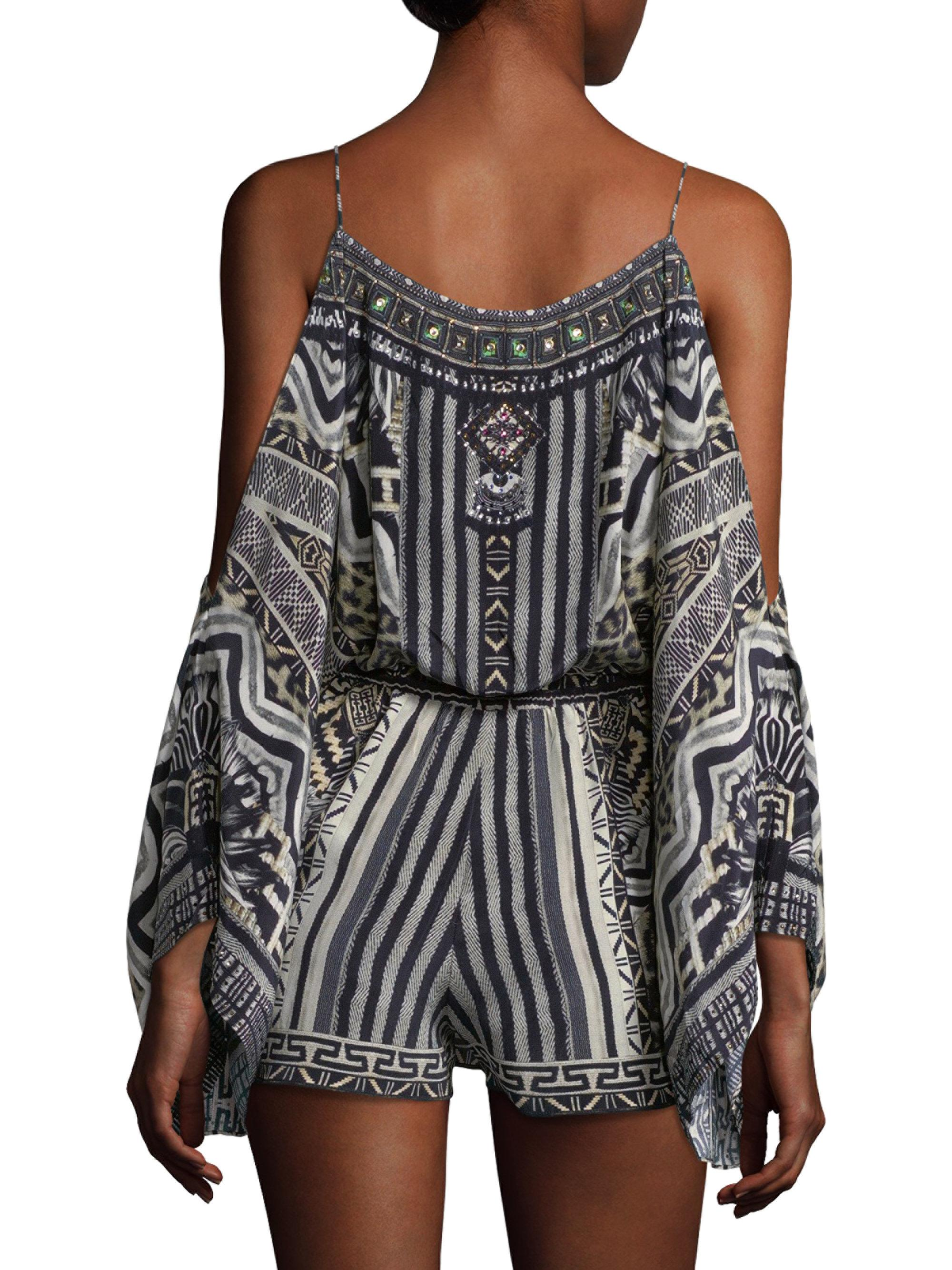 1883cfeb50 Lyst - Camilla From Rio With Love Embellished Silk Romper