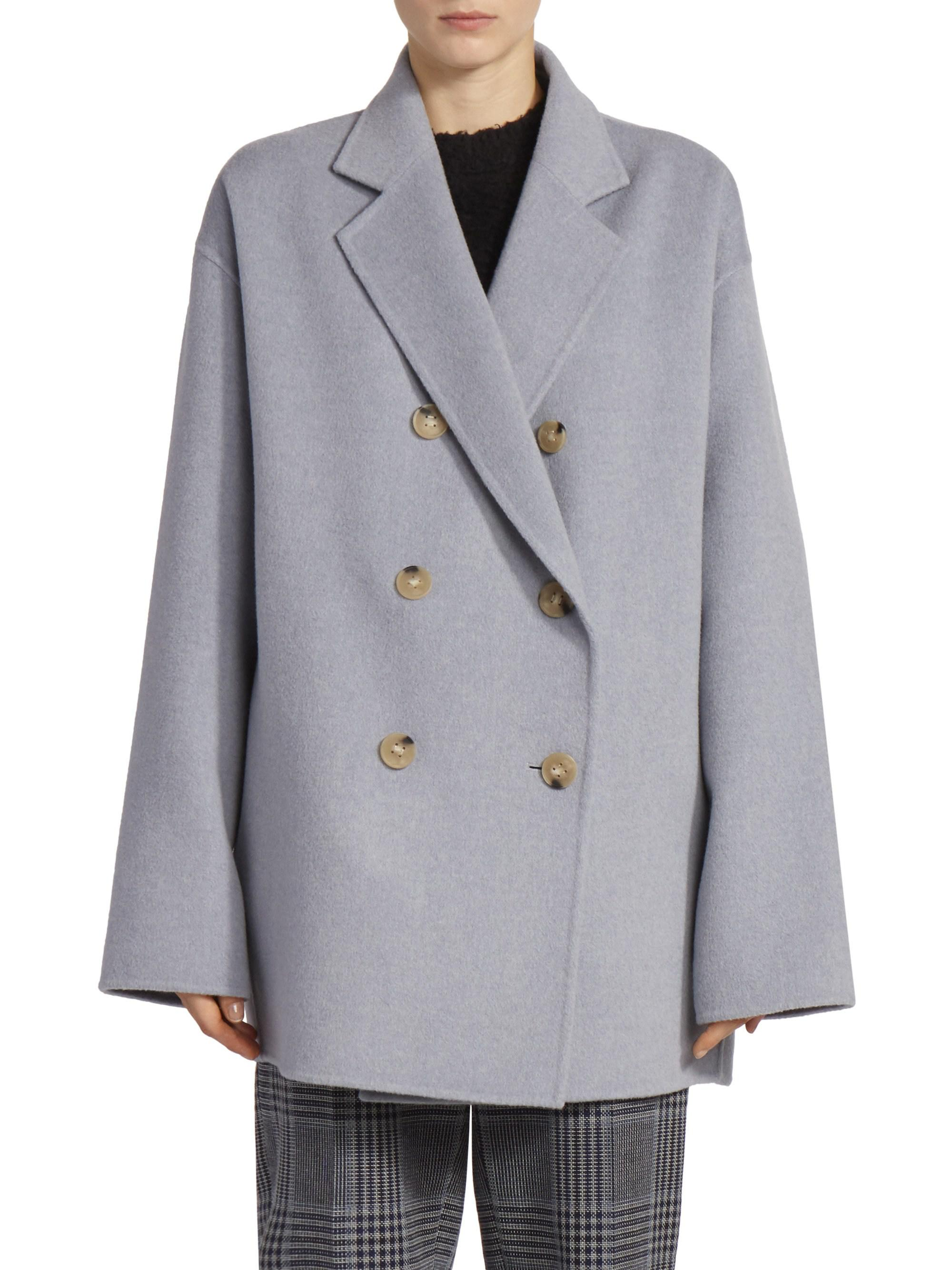 19e98363348 Acne Studios. Women s Odine Double-breasted Wool   Cashmere Peacoat
