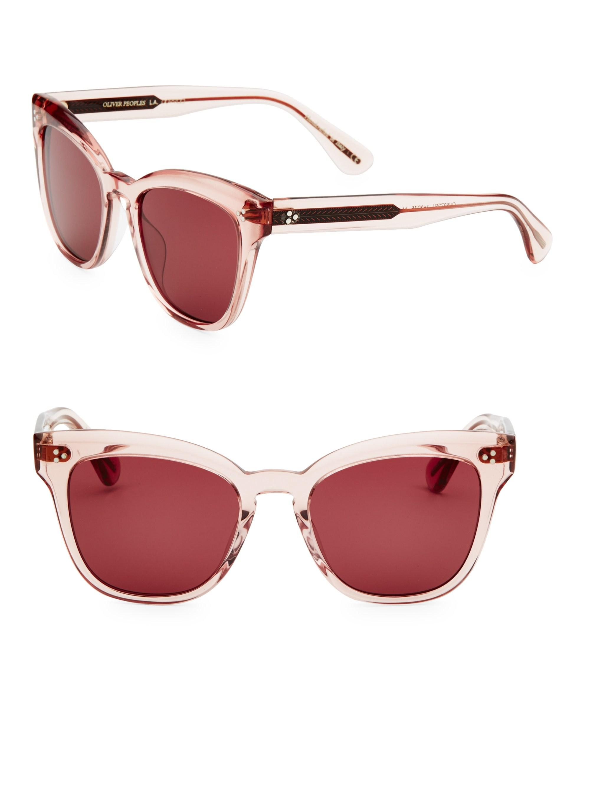 160b665b3b Oliver Peoples Marianela 54mm Cat-eye Sunglasses in Pink - Lyst