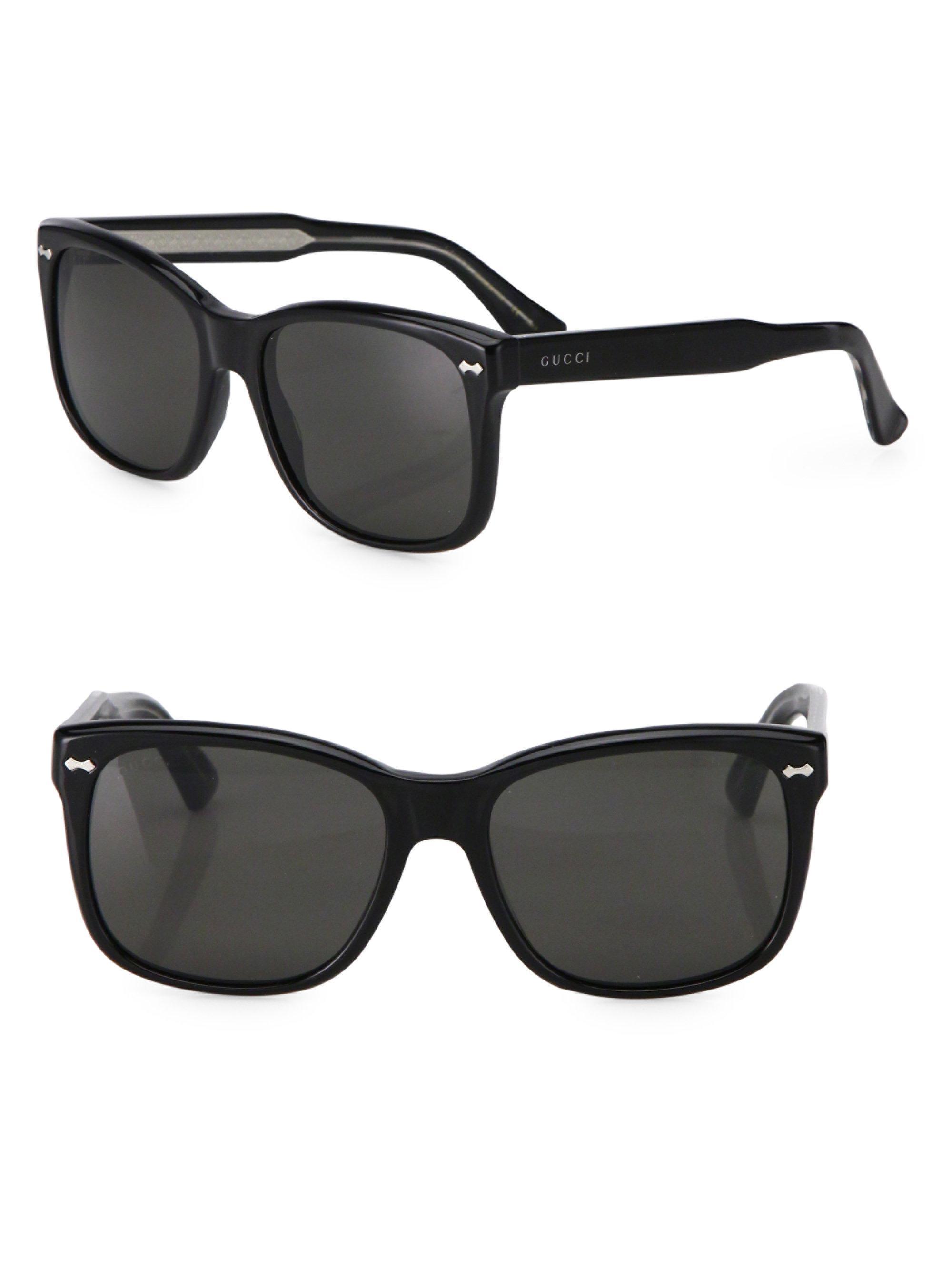 da5b035f8f Lyst - Gucci 56mm Oversize Square Sunglasses in Black for Men