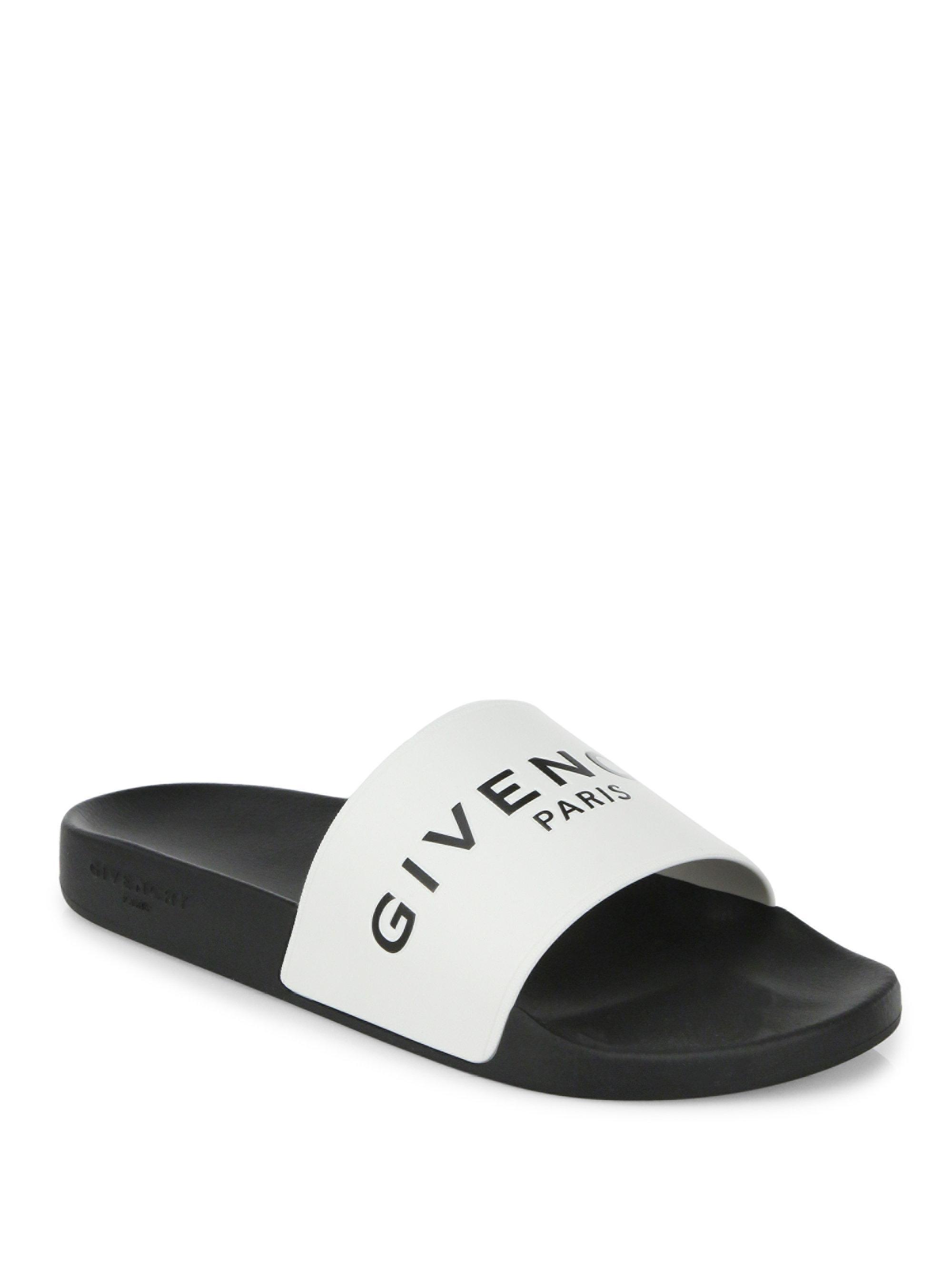 911681ca1e0185 Givenchy Logo Rubber Slides in Black for Men - Save 89% - Lyst