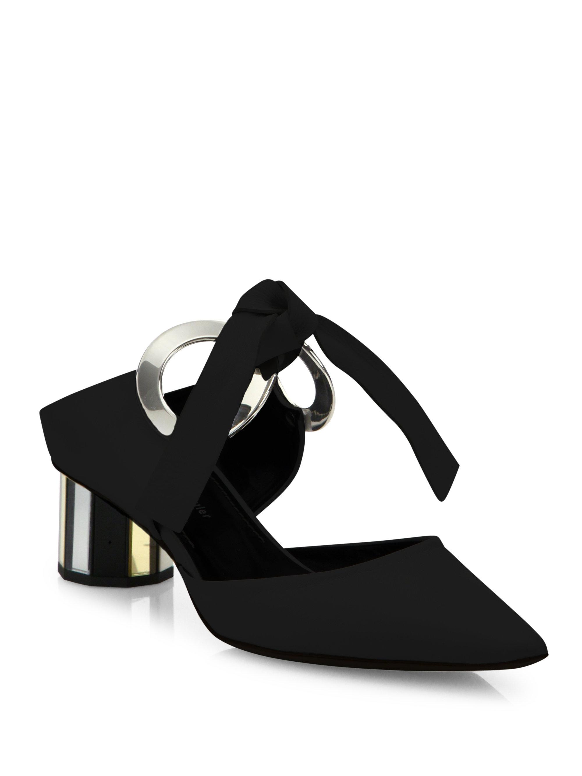 Proenza Schouler Leather Point Toe Mules