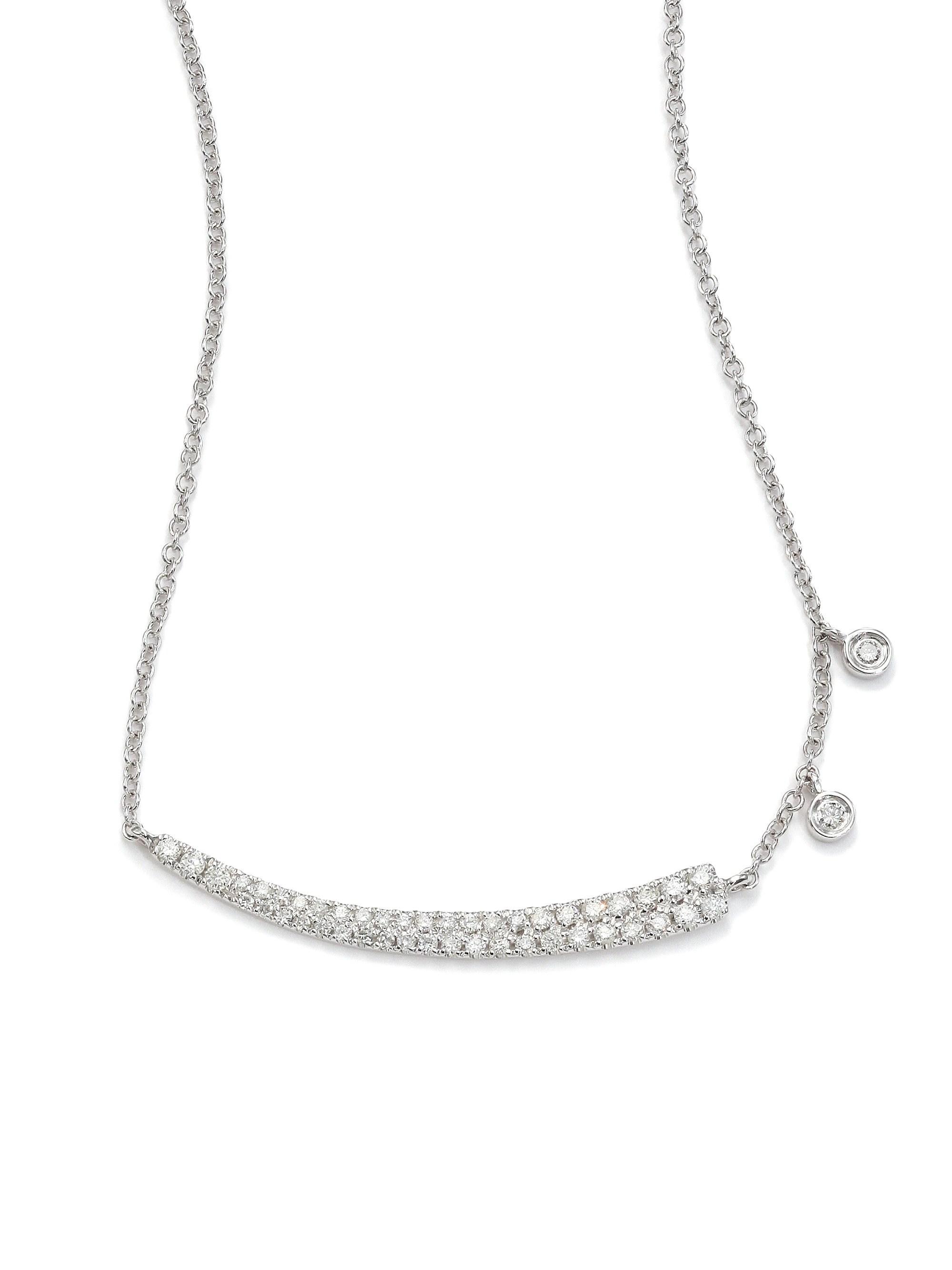 223ecf3f3f66e Lyst - Meira T Women s Diamond   14k White Gold Asymmetrical Curved ...