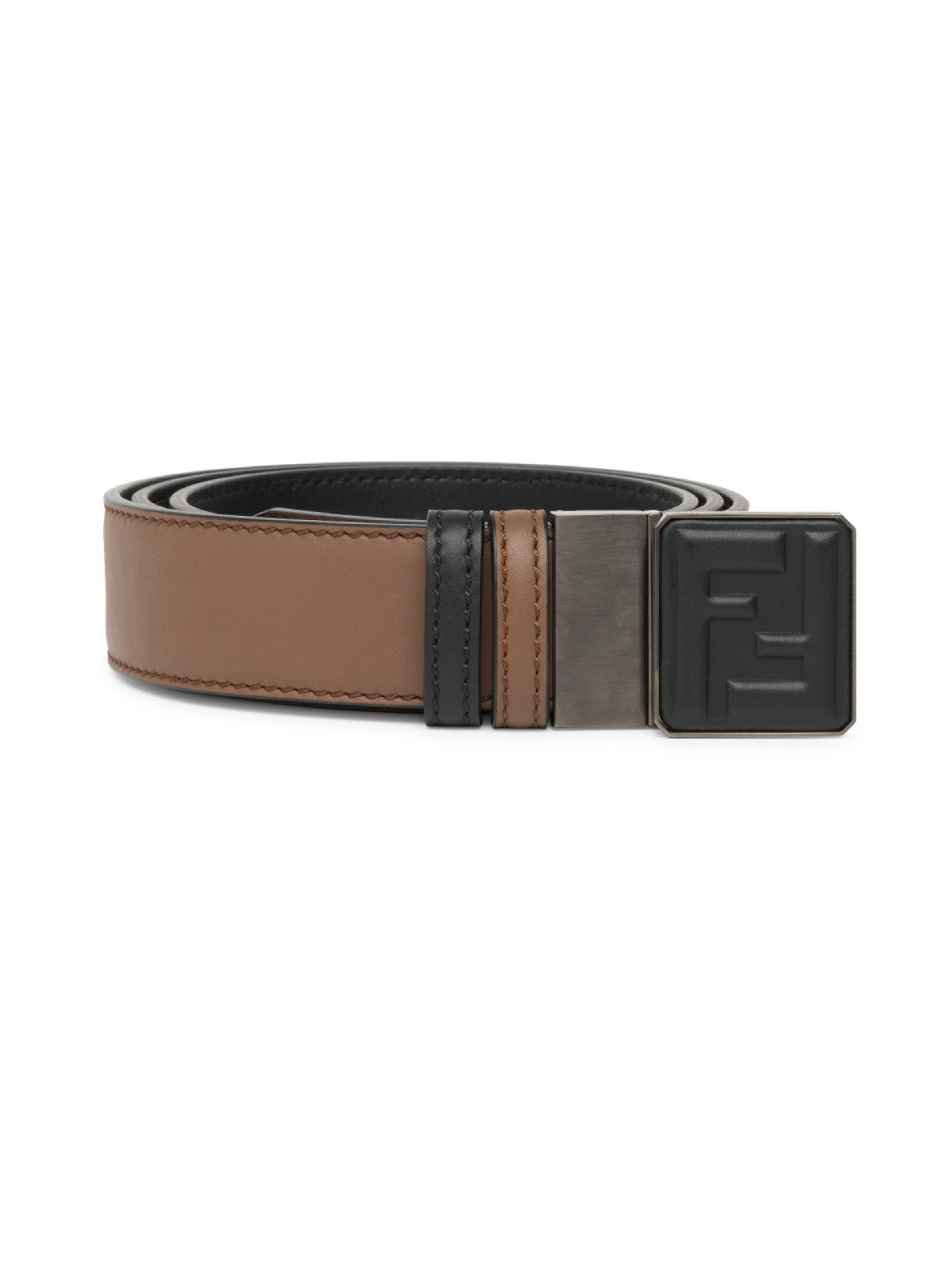 logo duo-strap reversible belt - Blue Fendi guDKJmQ