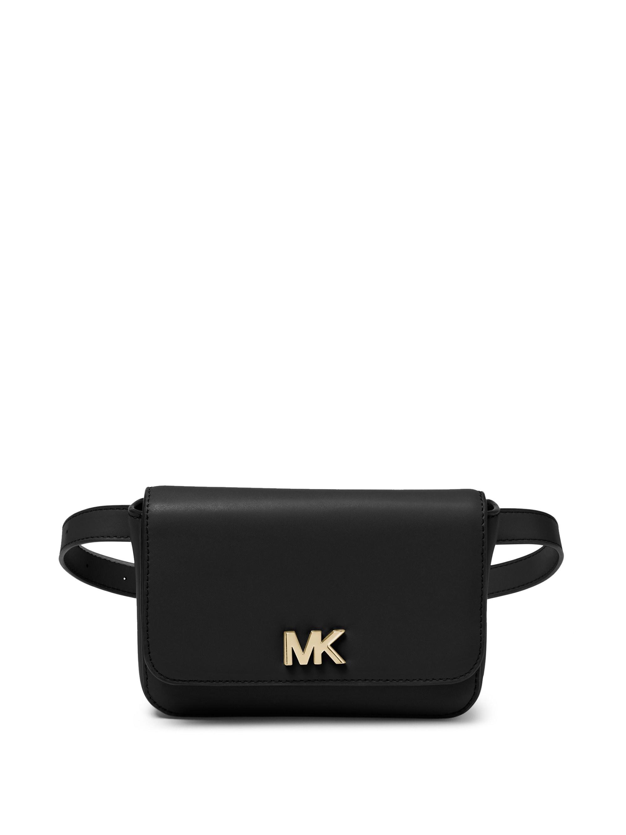 076cab8ee5ed8 Lyst - MICHAEL Michael Kors Mott Leather Belt Bag in Black