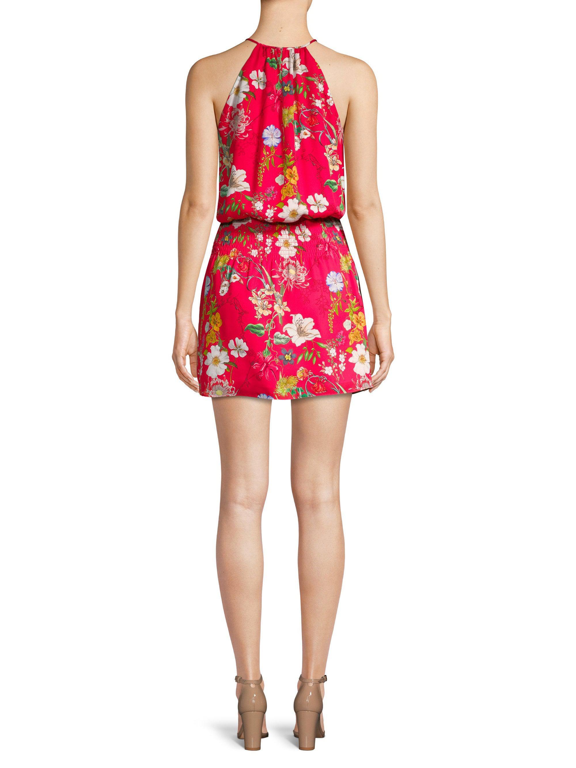 c5c8c1bb09c4 Parker Larissa Silk Halter Mini Dress in Red - Lyst
