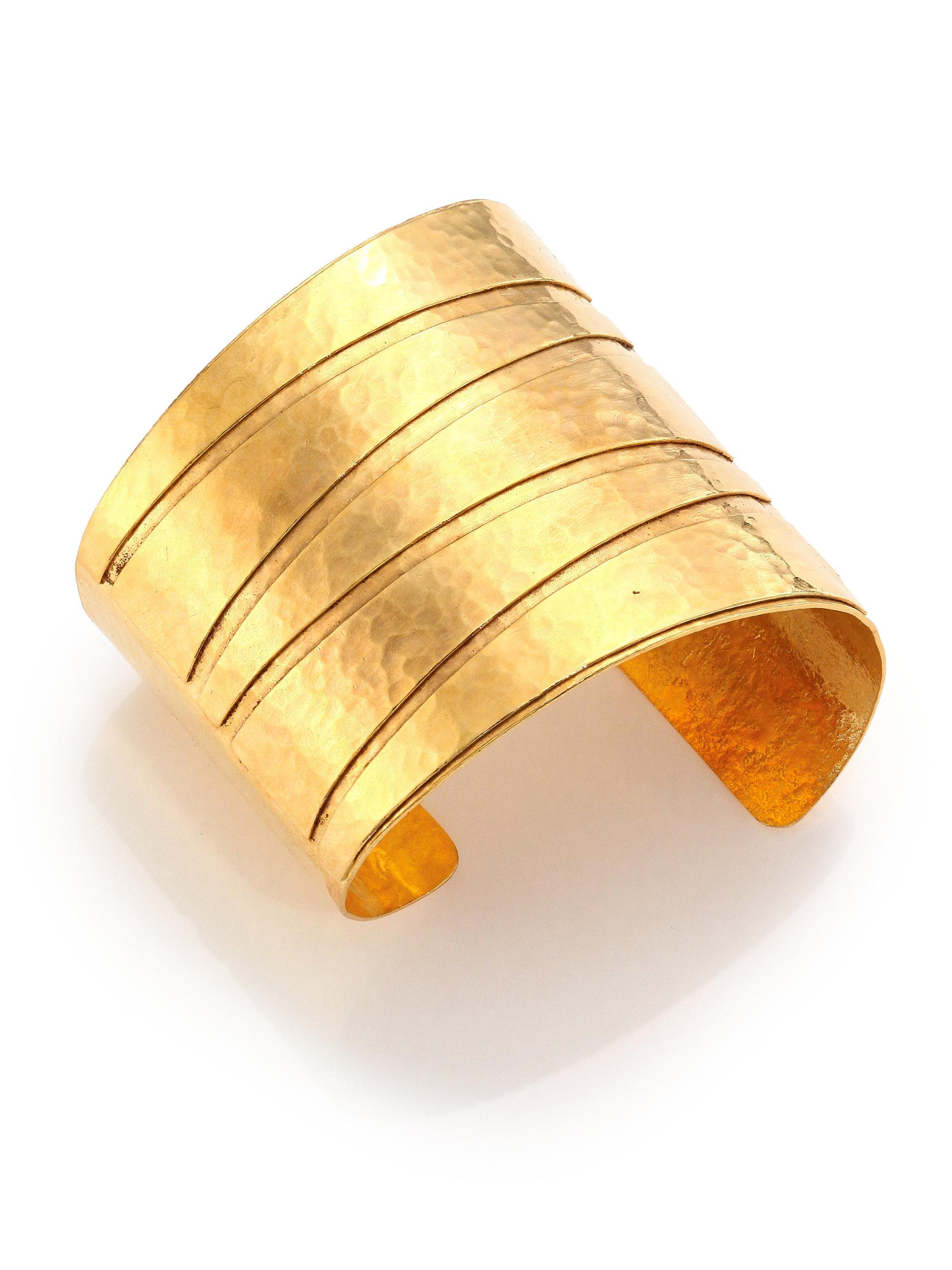 Nest Gold Plated Bamboo Lattice Cuff DP78SE