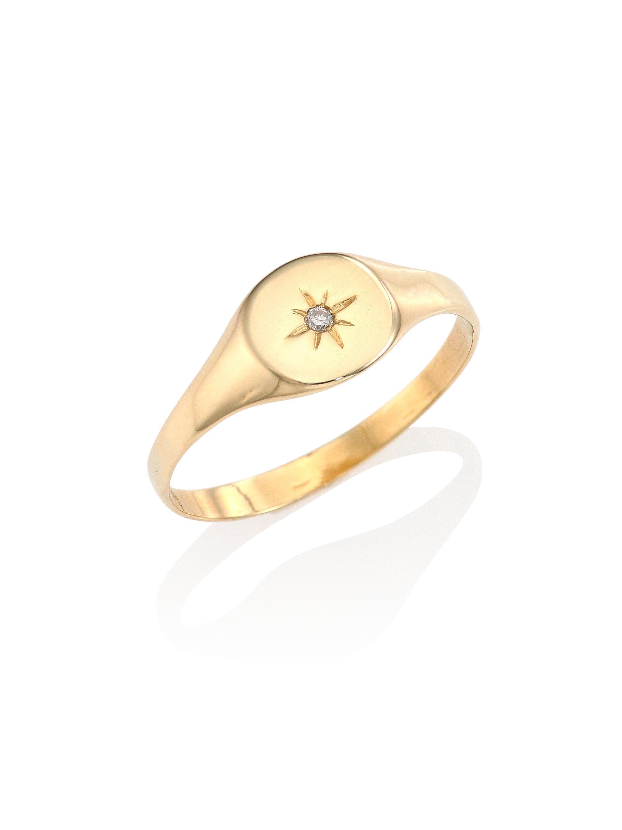 Jacquie Aiche Teardrop Crystal Signet Ring NSoInRtlfz