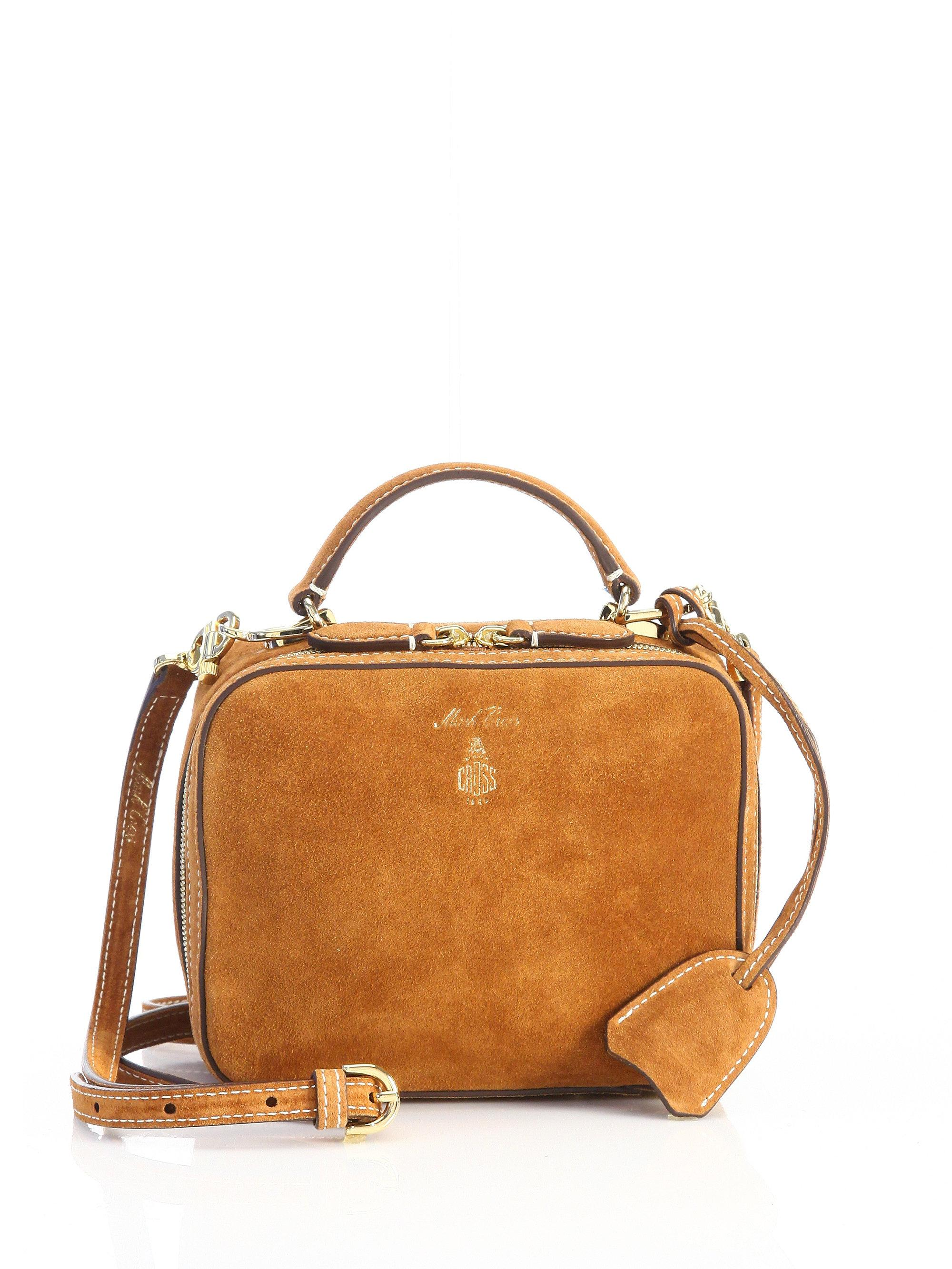 1c6882a99b2 Lyst - Mark Cross Baby Laura Leather Shoulder Bag