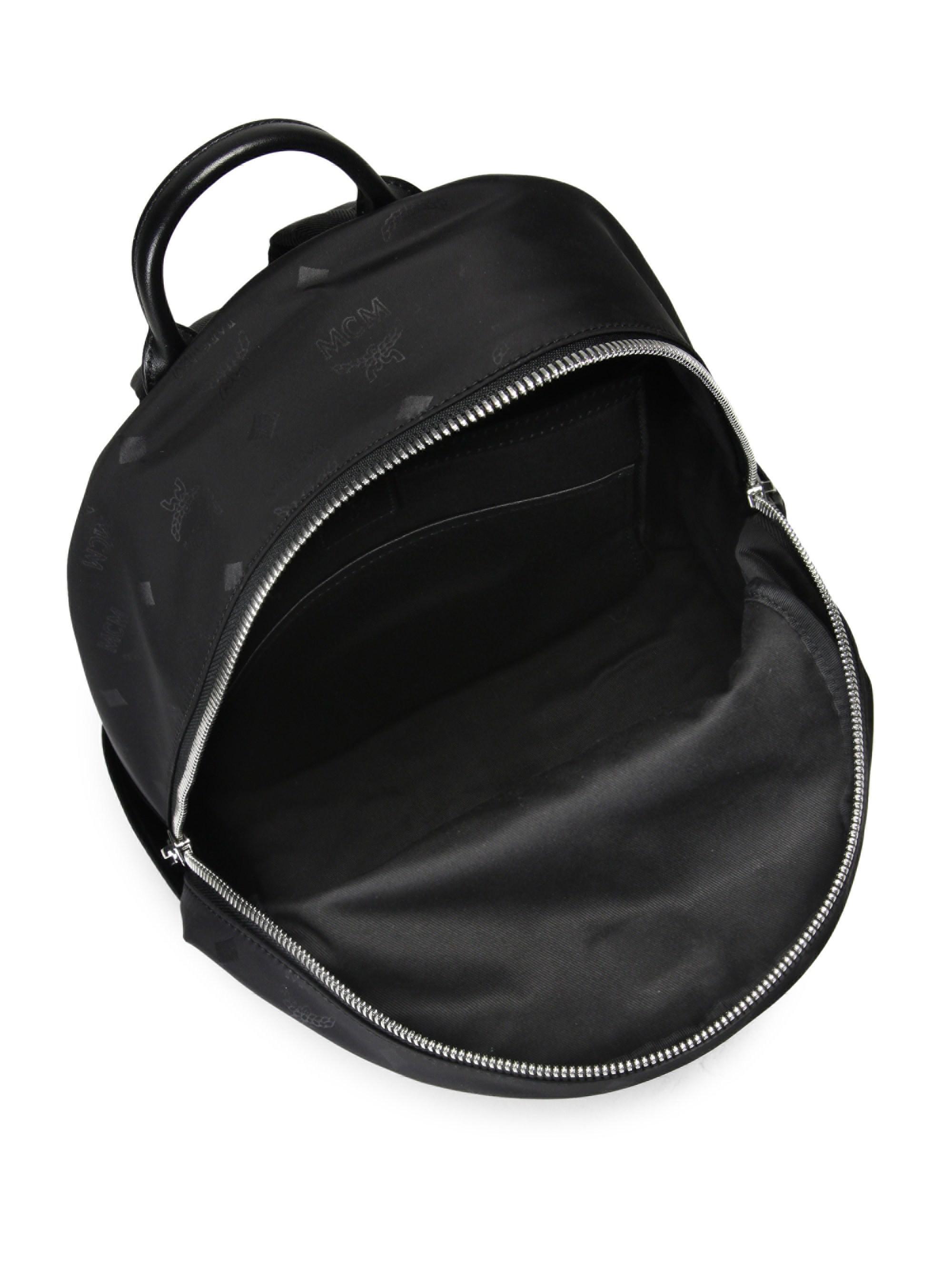 ... MCM - Black Small Dieter Monogrammed Nylon Backpack - Lyst. View  fullscreen pretty nice fba95  MCM. Mens ... 46683b7fb1