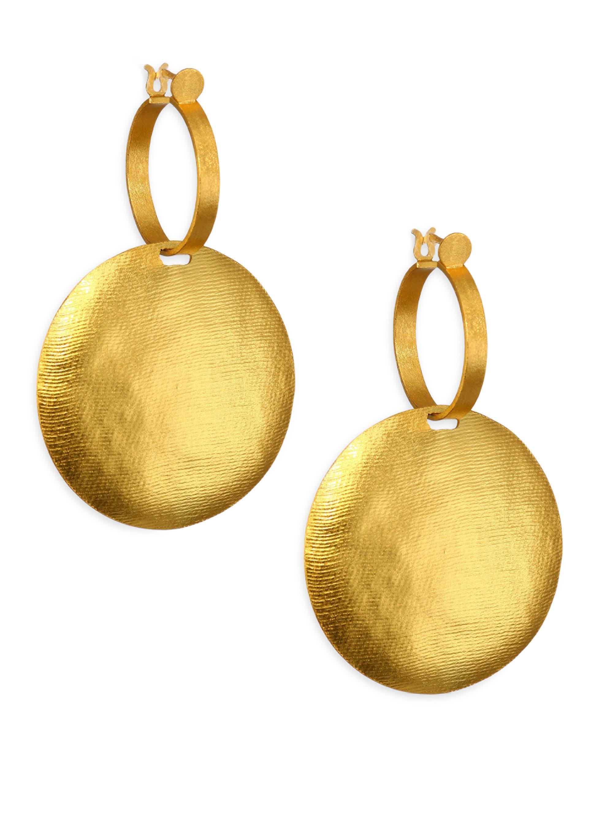 Sikuani Gold-Plated Brass Earrings Paula Mendoza dHf1oC