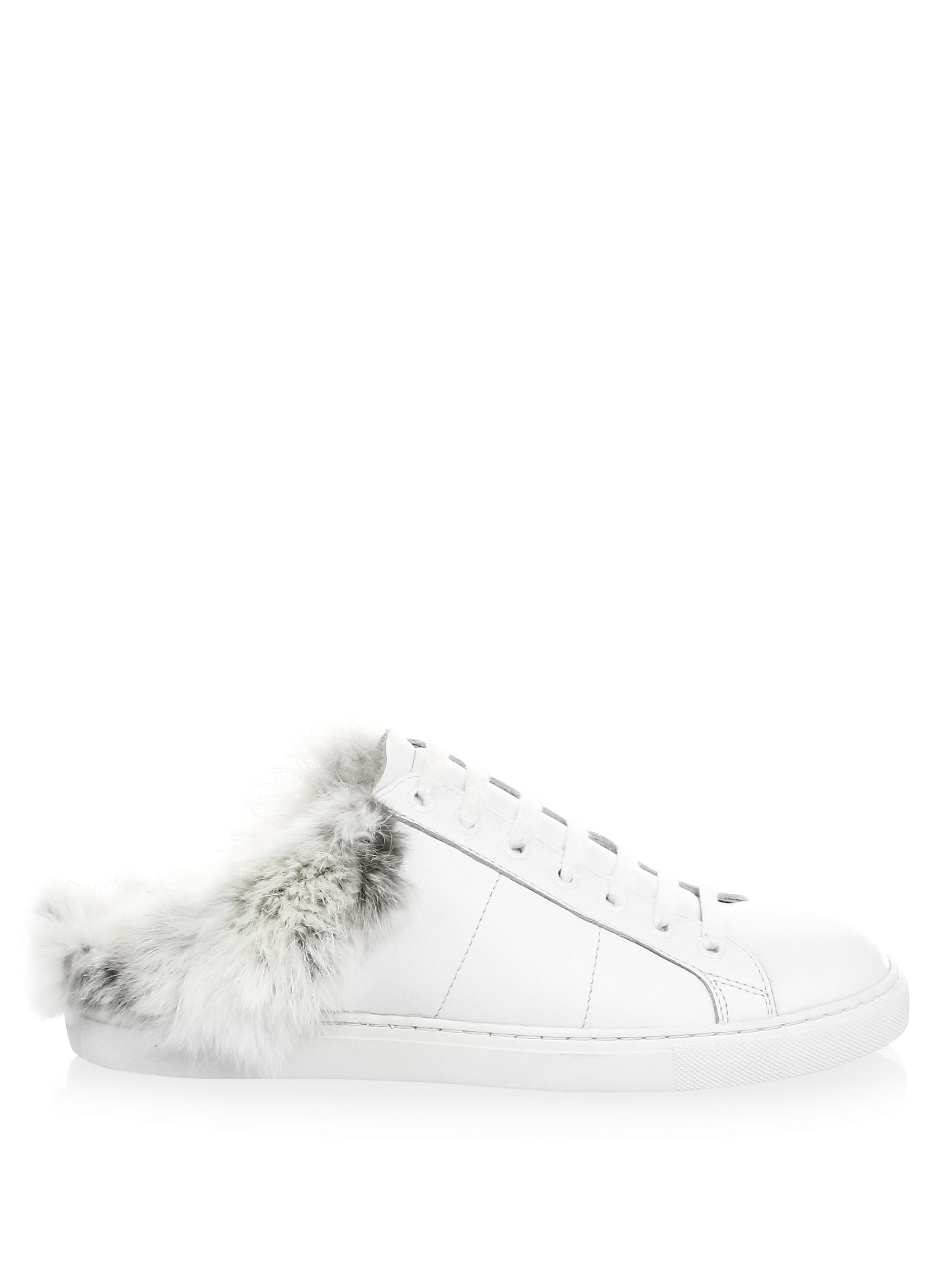 IRO Basfur Leather & Fur Sneakers dyu2Lb3