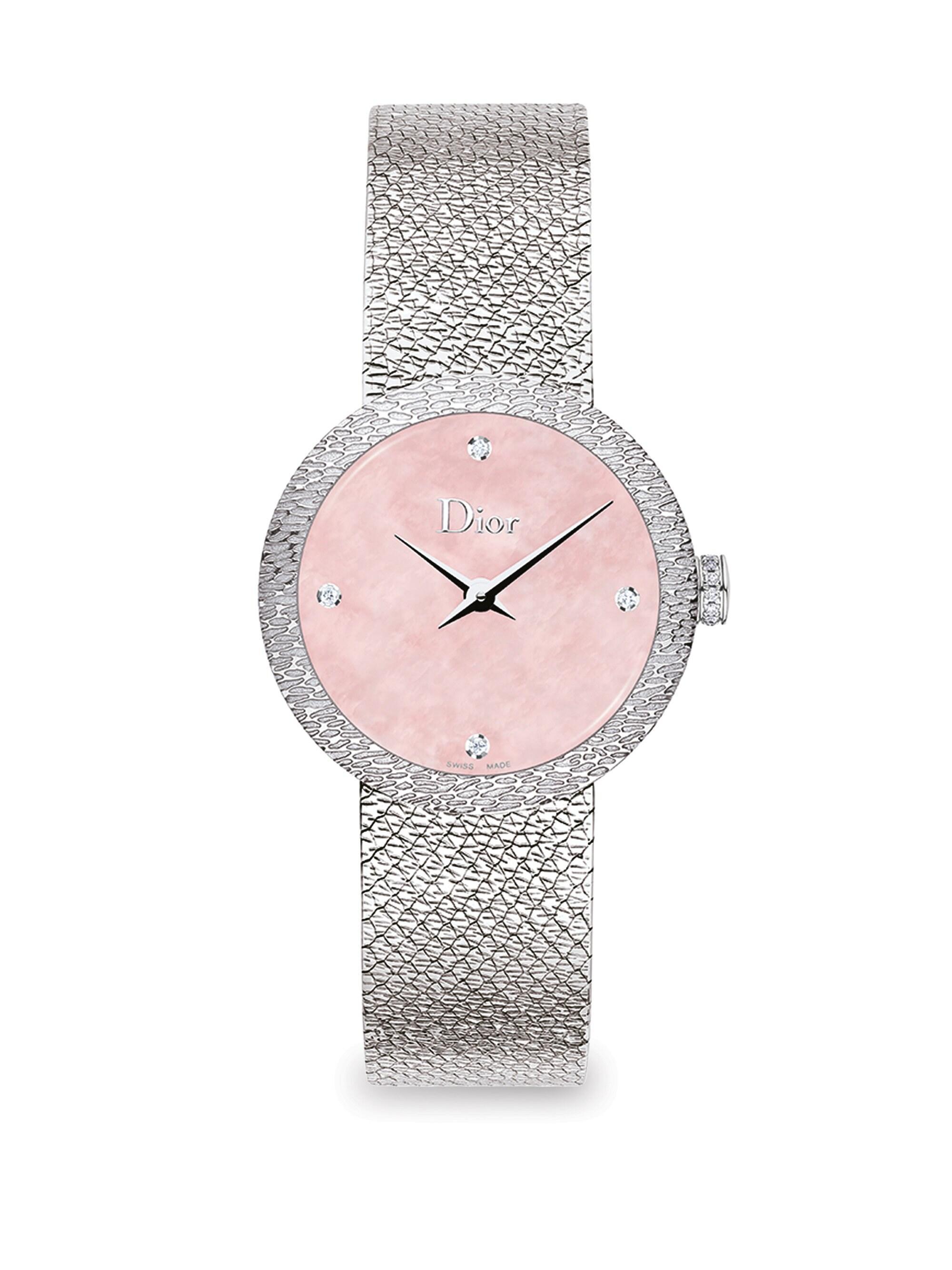 00e11f6ac Dior - Women's La D De 25mm Pink Satine Watch - Pink - Lyst. View fullscreen