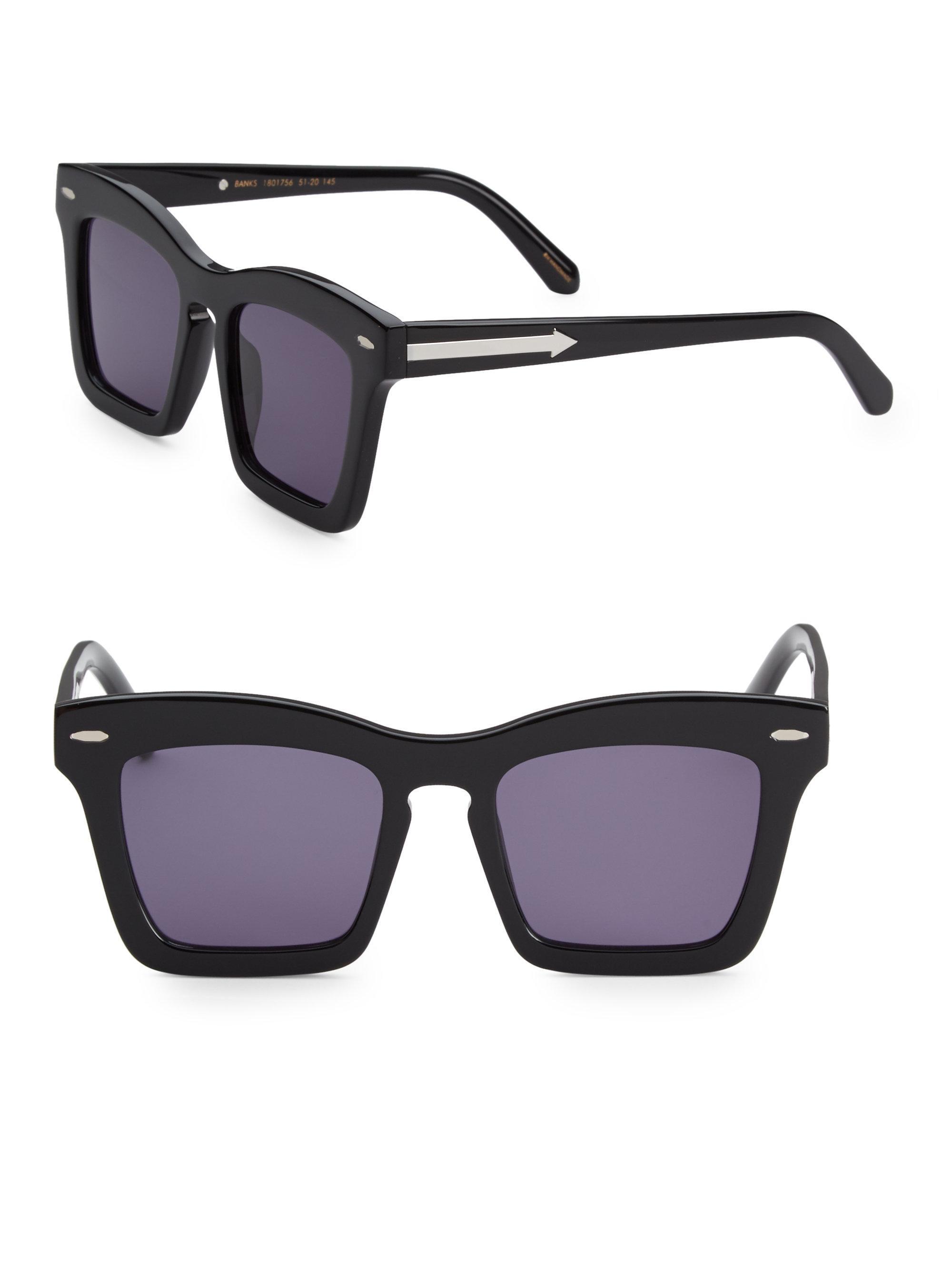 Banks Square-Frame Acetate Sunglasses Karen Walker yTiwS8yh