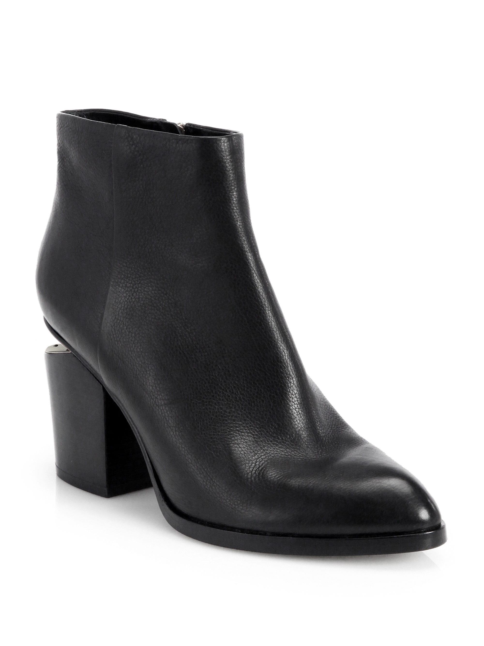 9adf88b55ec Alexander Wang Gabi Leather Almond Toe Booties in Black - Lyst
