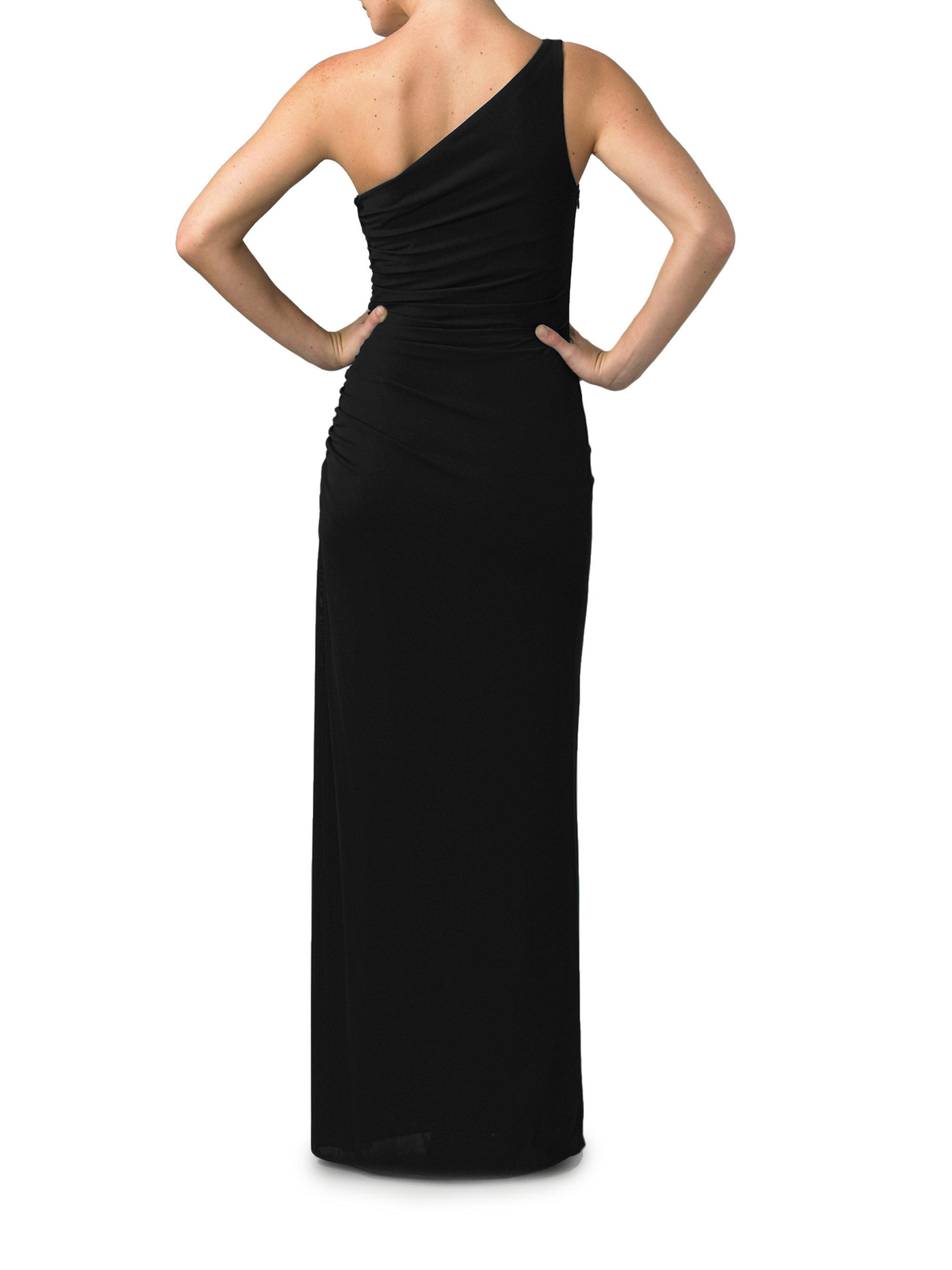 bb3d441fedf Laundry by Shelli Segal One-shoulder Matte Jersey Dress in Black - Lyst