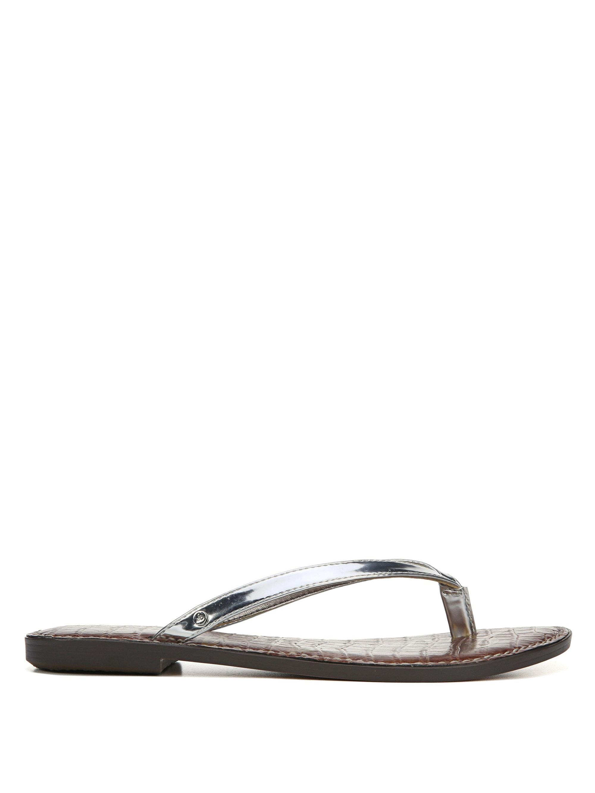 586ed44271d36a Lyst - Sam Edelman Gracie Liquid Metallic Leather Thong Sandals in ...