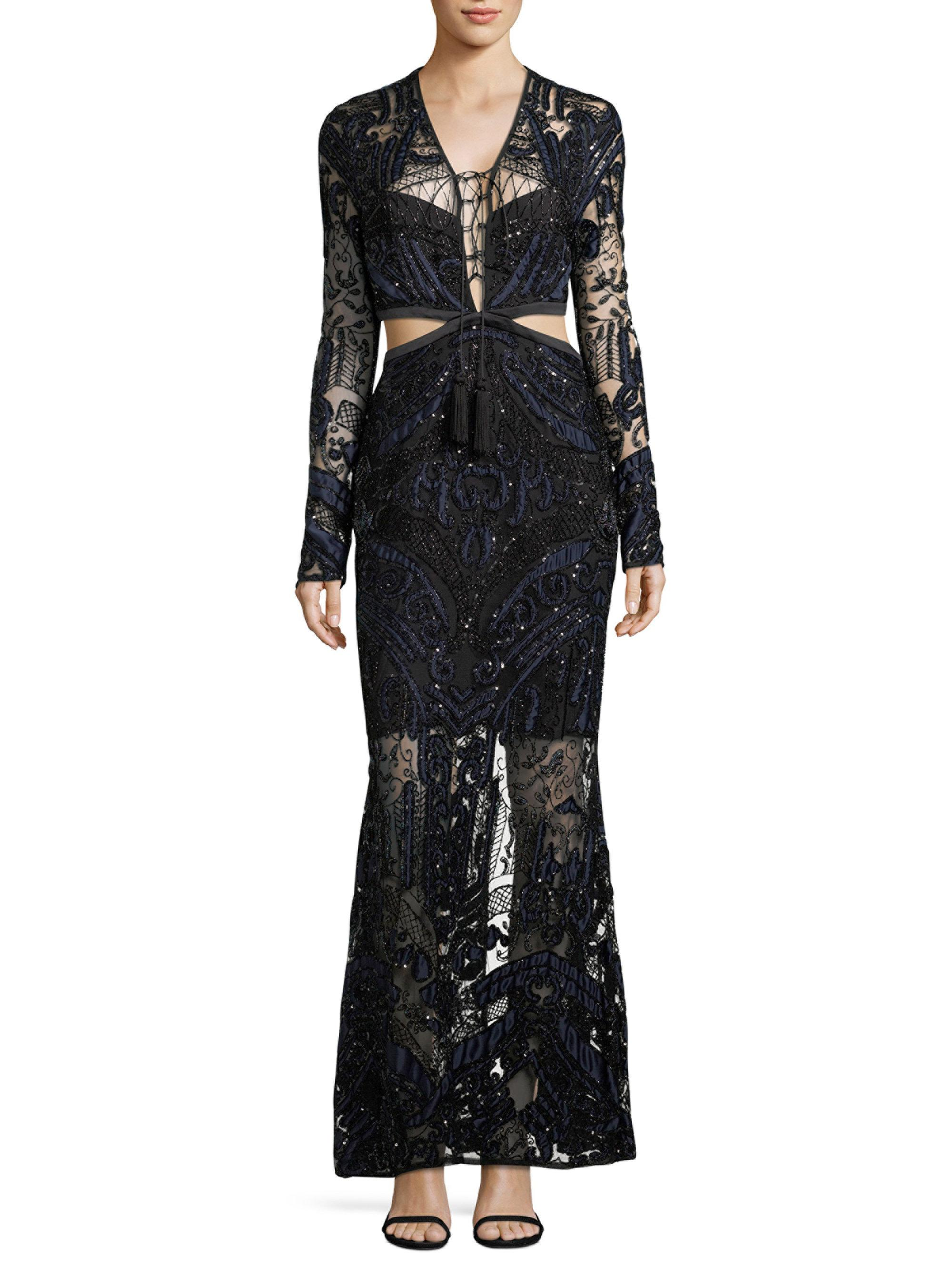 Lyst - Thurley Embellished Valentine Gown in Black
