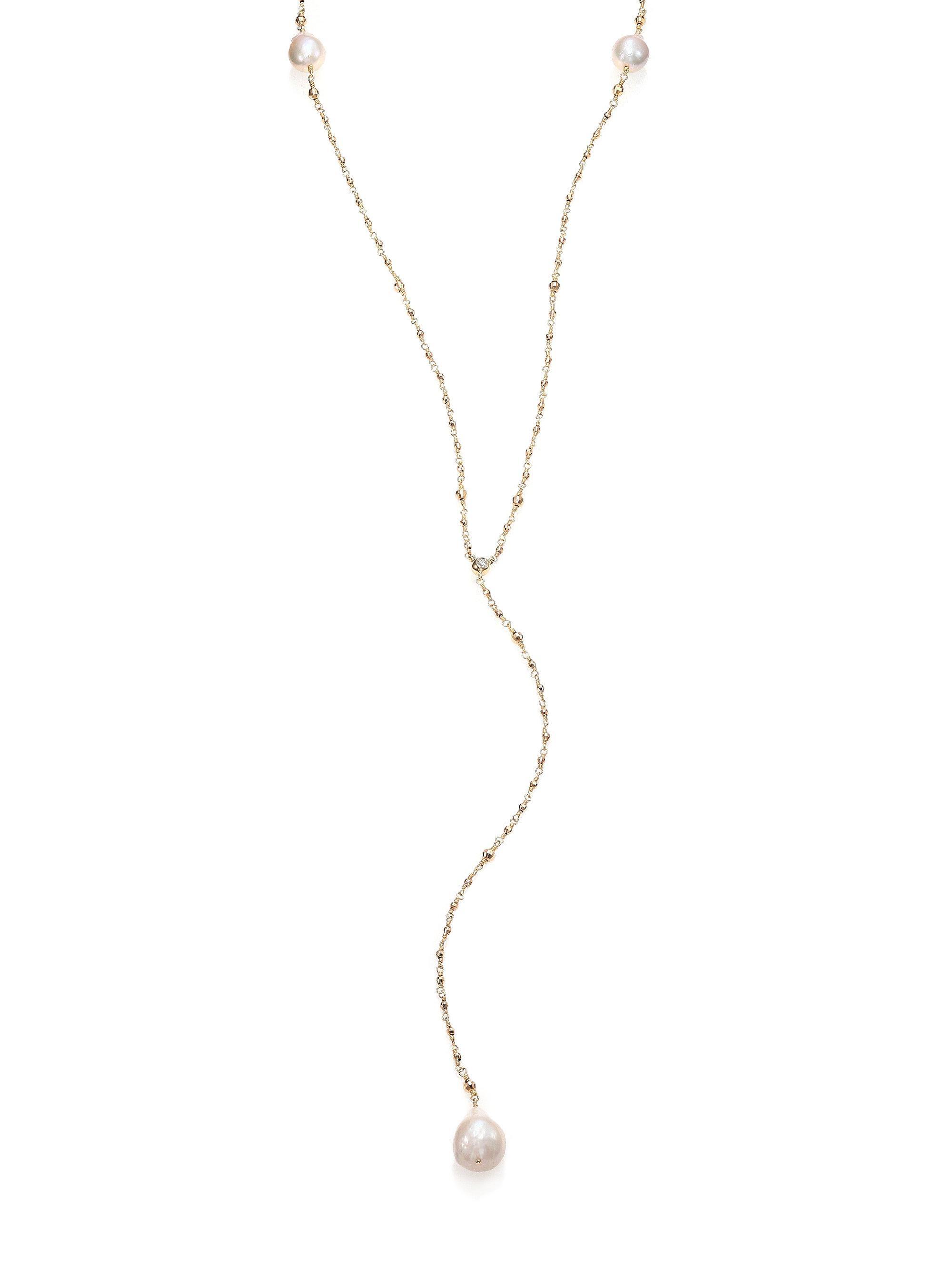 Mizuki 14k Double Petal Pearl Pendant Necklace 0vTkTJ8
