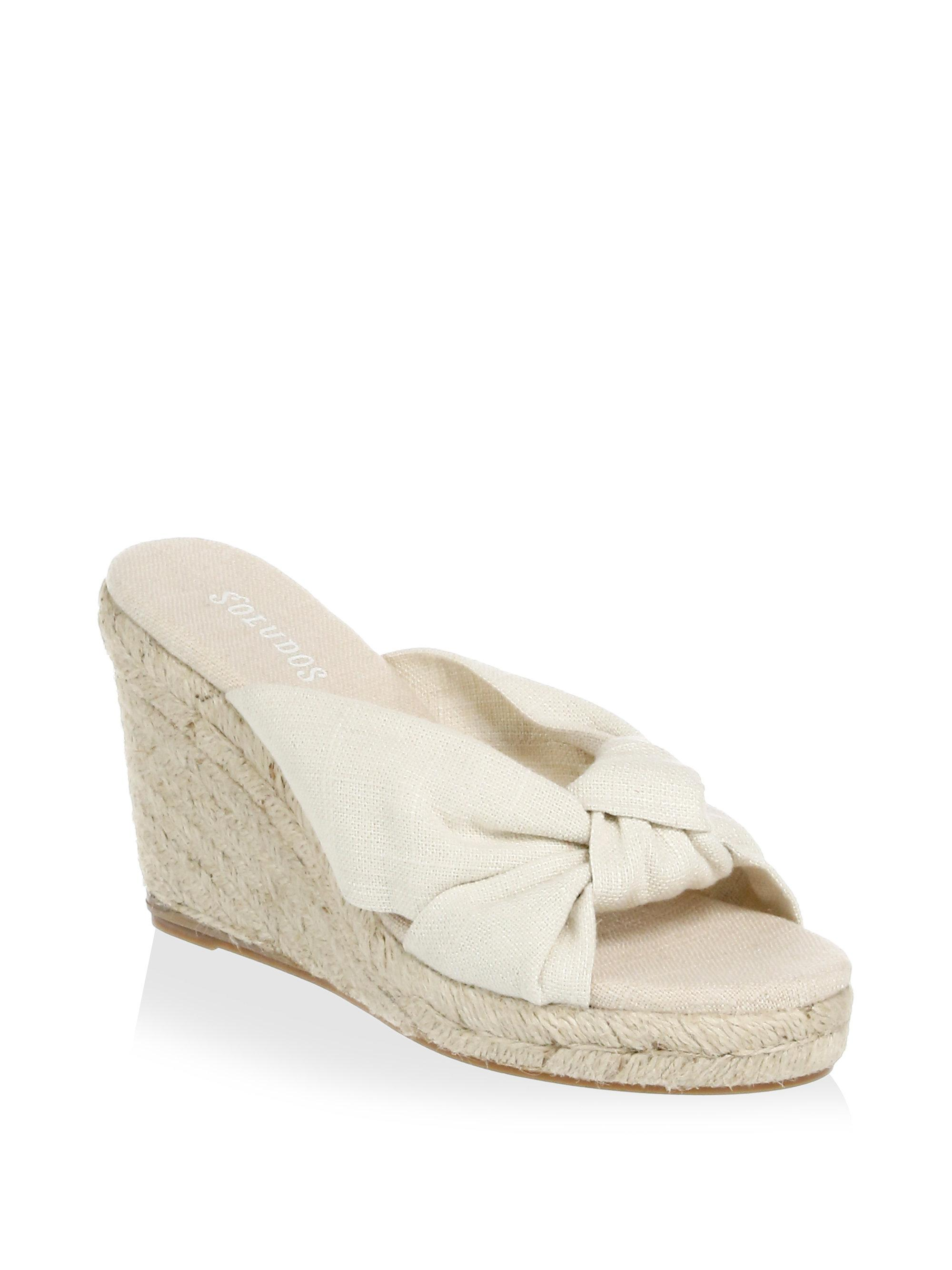 Soludos Knotted Wedge Sandals BGWna