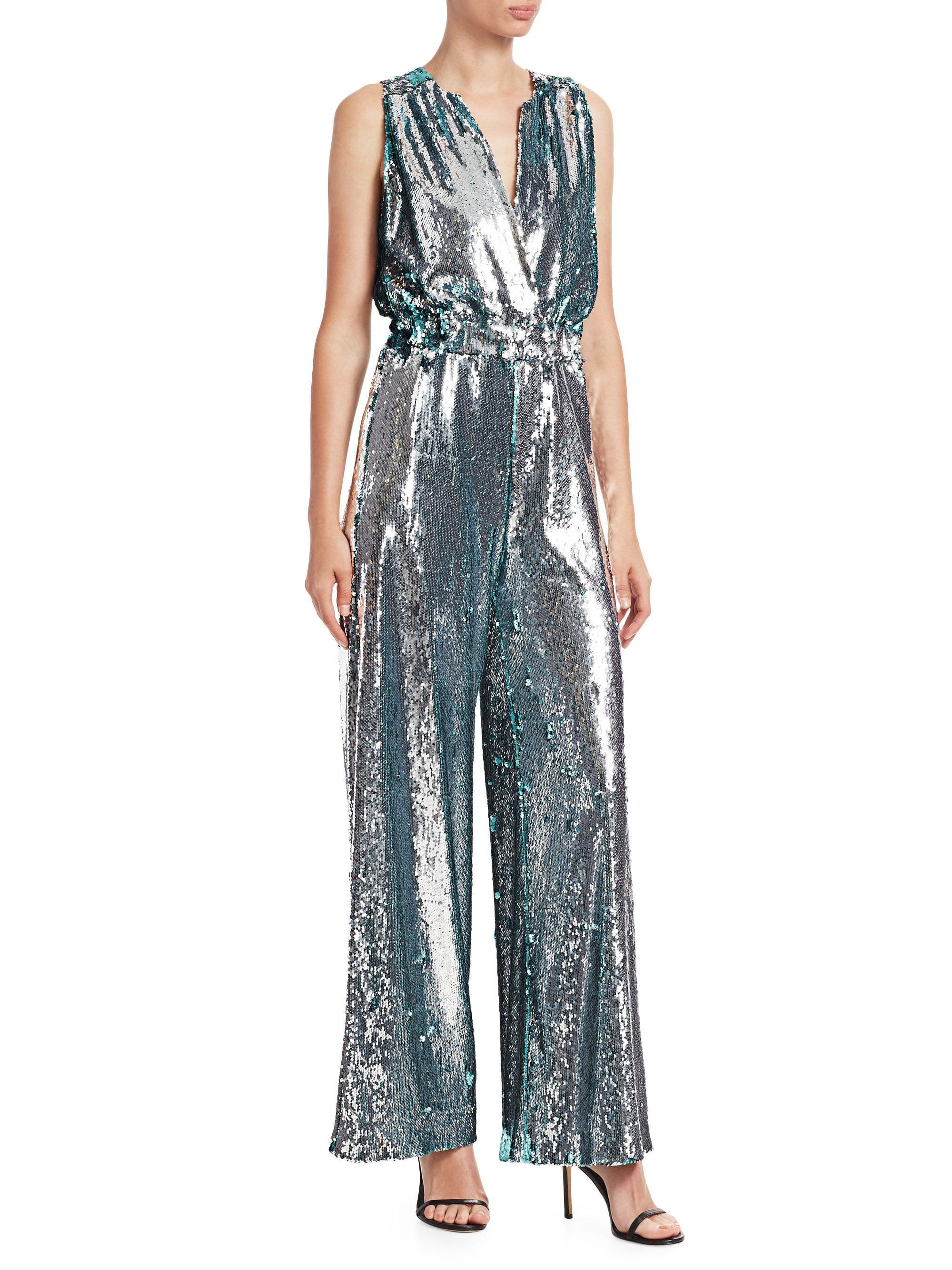 e9eeaac596f1 Carolina Ritzler. Women s Sleeveless Sequin Jumpsuit. £1