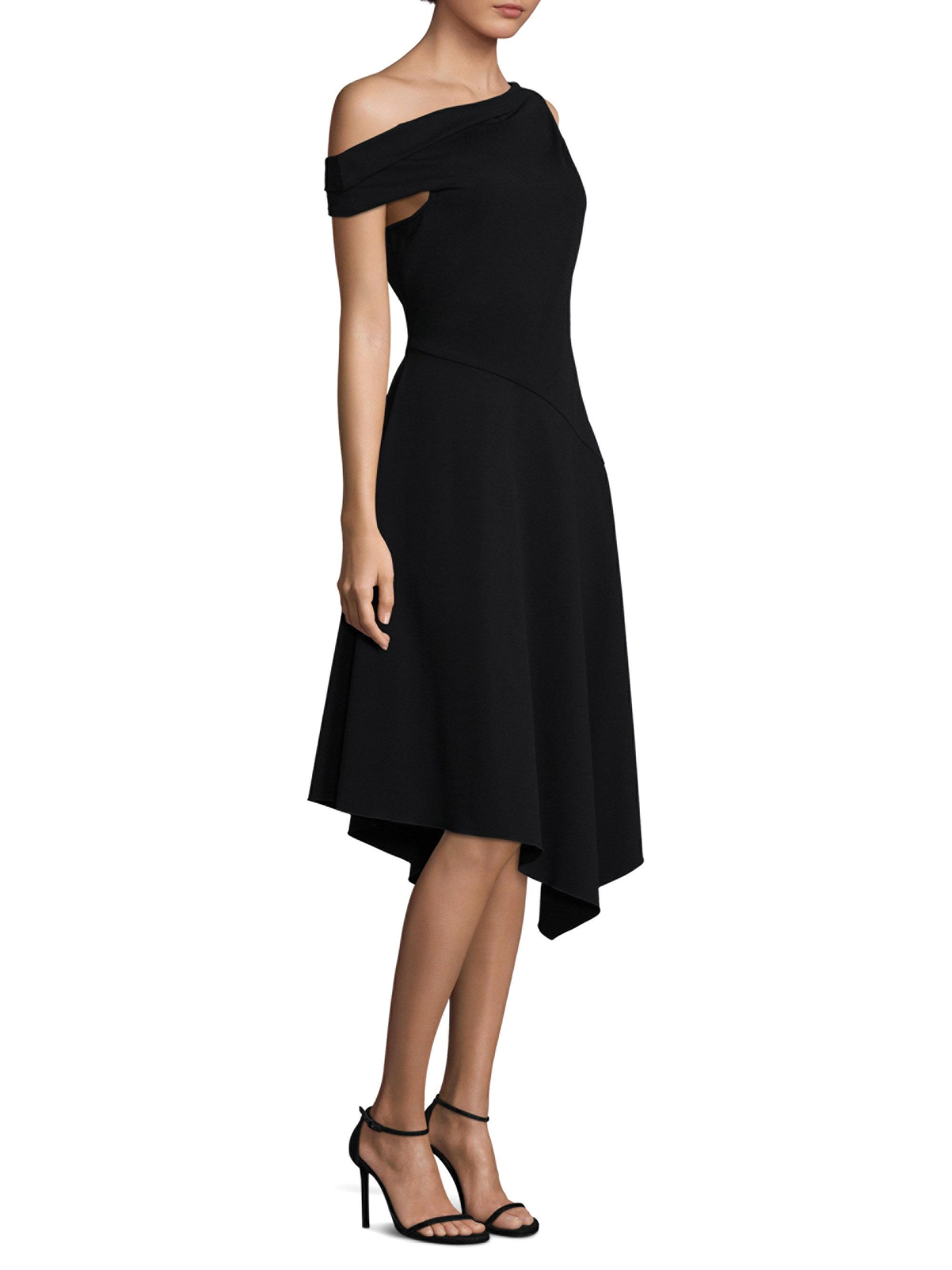 One Shoulder Midi Dress - Black Derek Lam Amazing Price IrxdnP