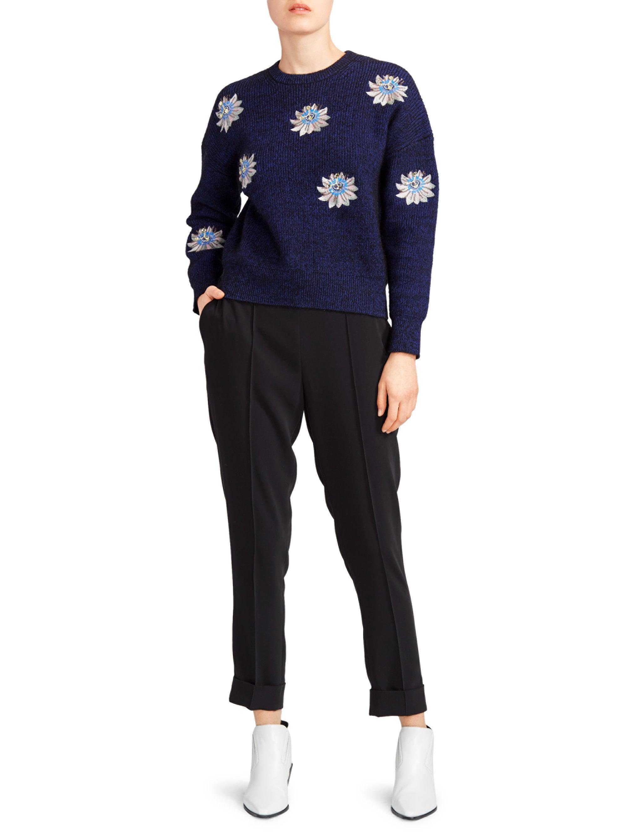 448976d8fe KENZO Passion Flower Sweater in Black - Lyst