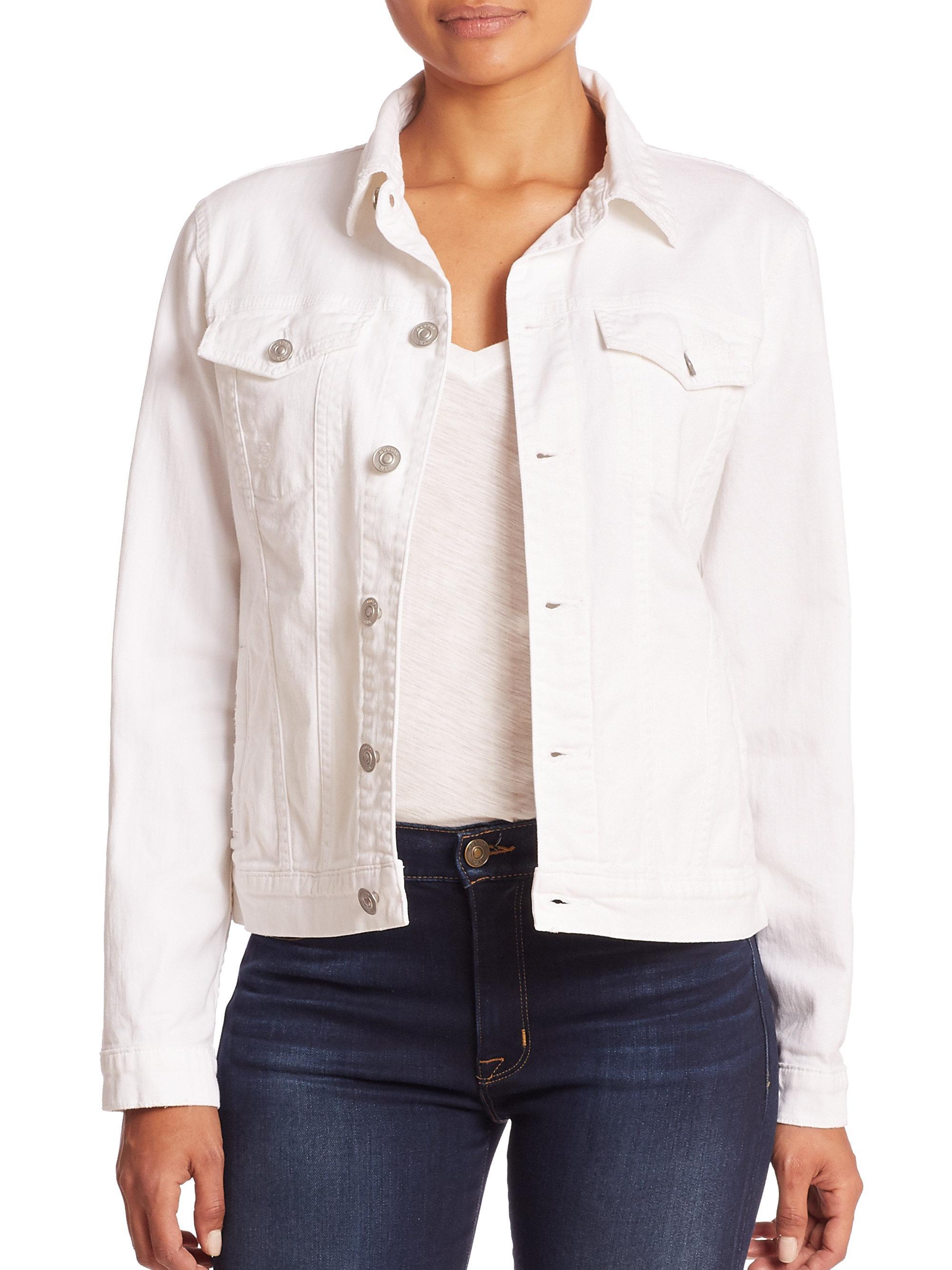 311e91905276 Lyst - Hudson Jeans Signature Denim Jacket in White