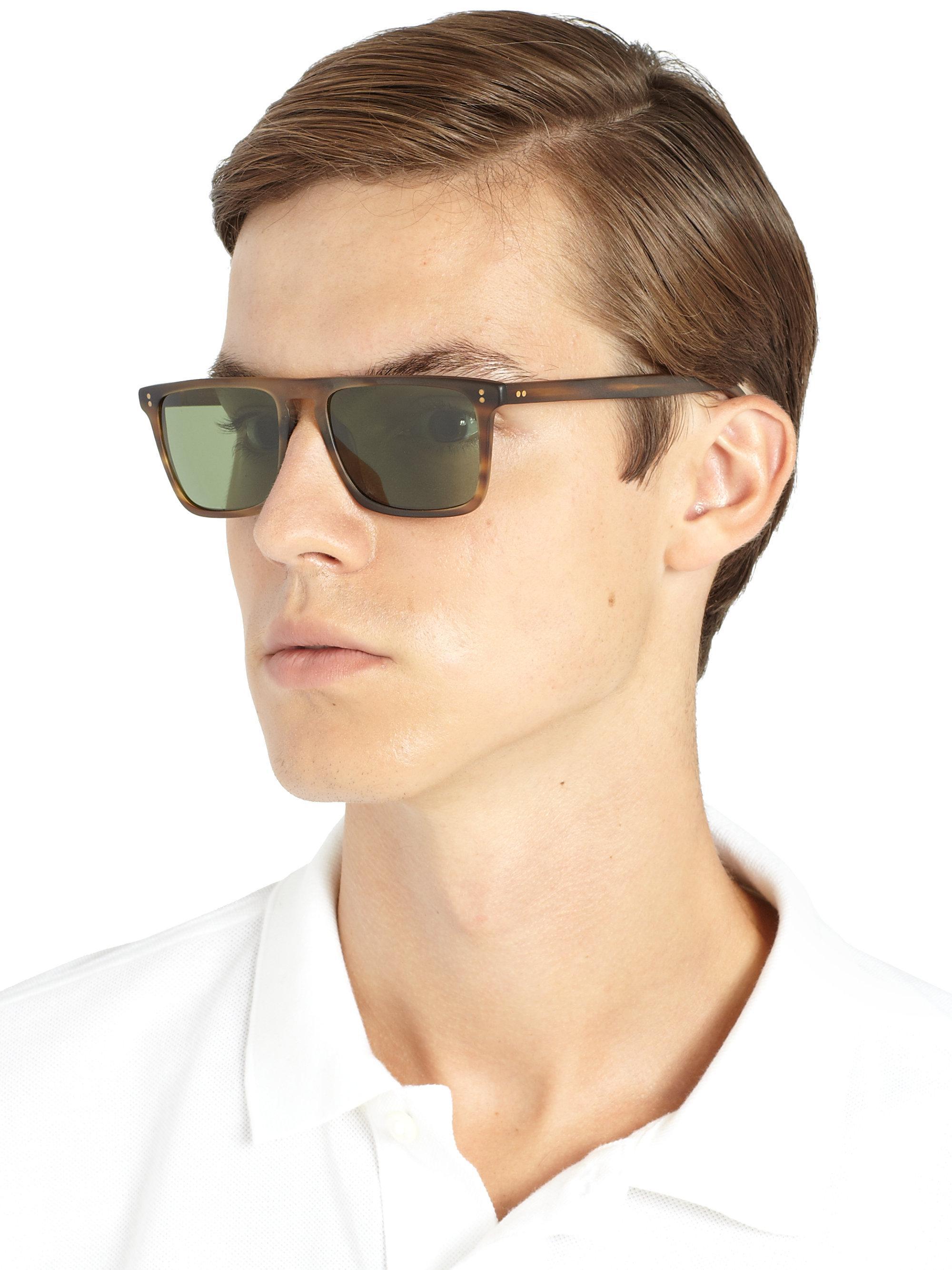 533bd81db8c Oliver Peoples - Multicolor Bernardo Rectangle Sunglasses for Men - Lyst.  View fullscreen