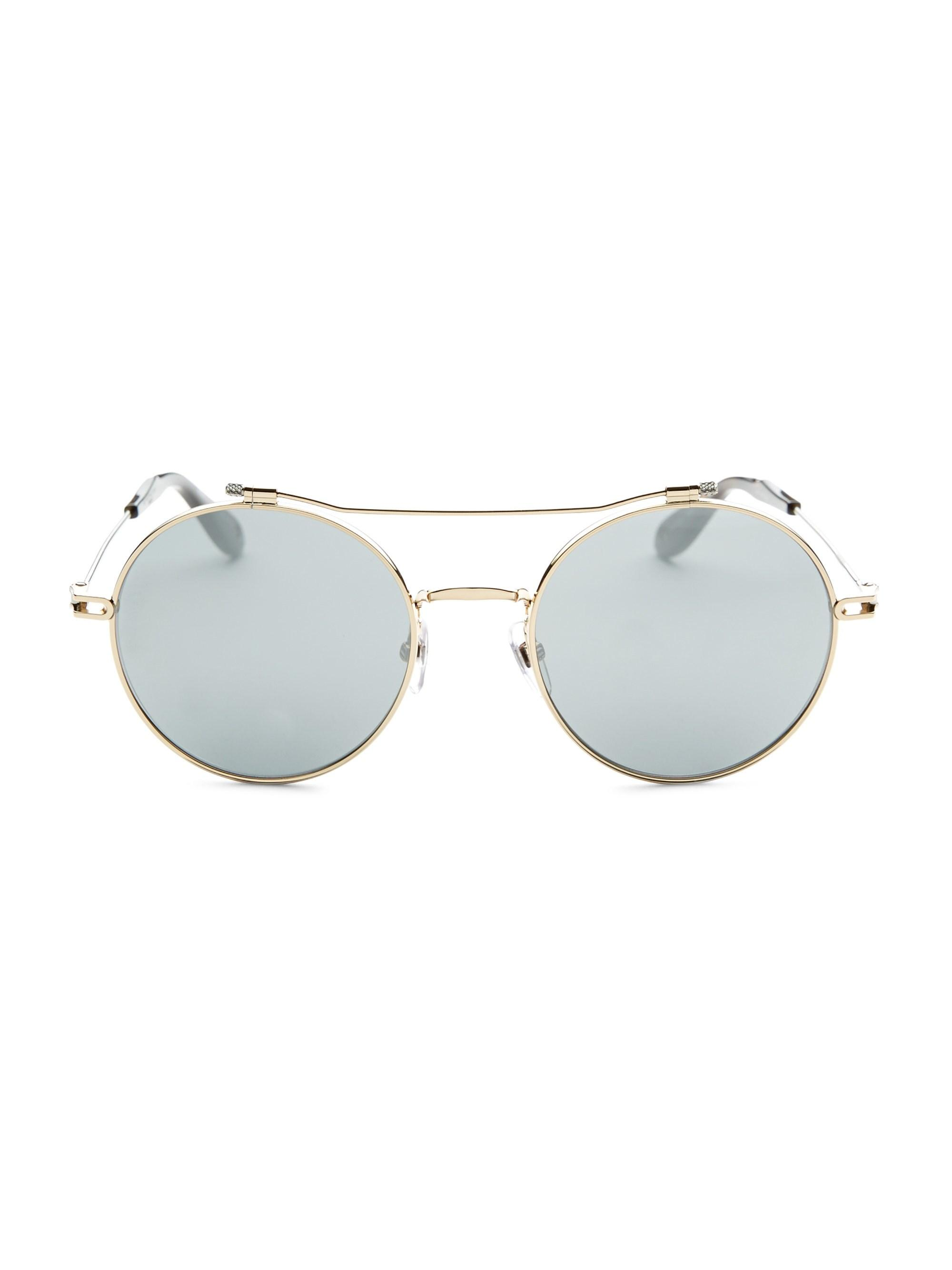 9baa385a6415 Givenchy 53mm Round Sunglasses in Metallic - Lyst