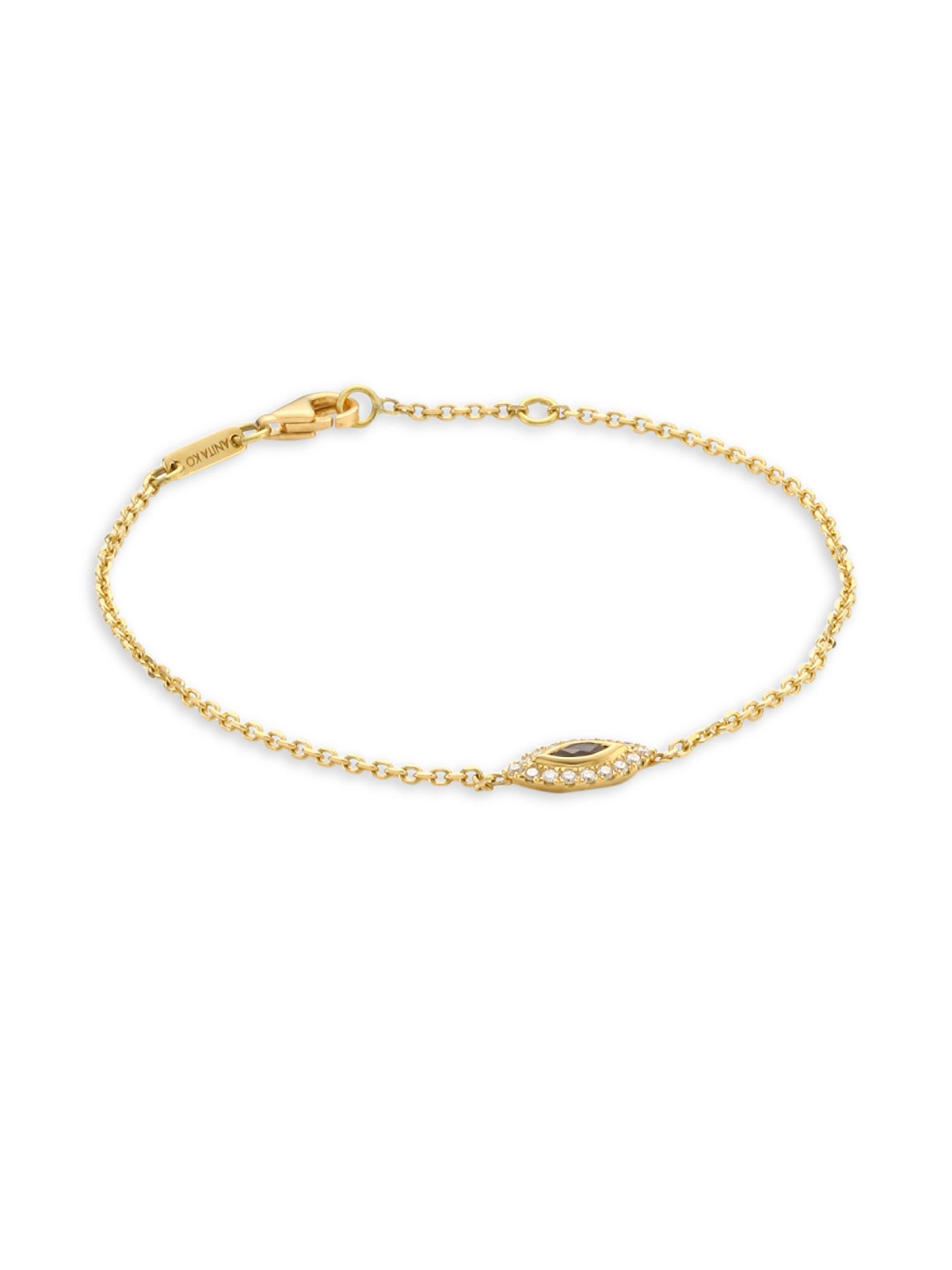 Anita Ko 18kt rose gold and diamond Heart Chain bracelet - White lj2PnvuS