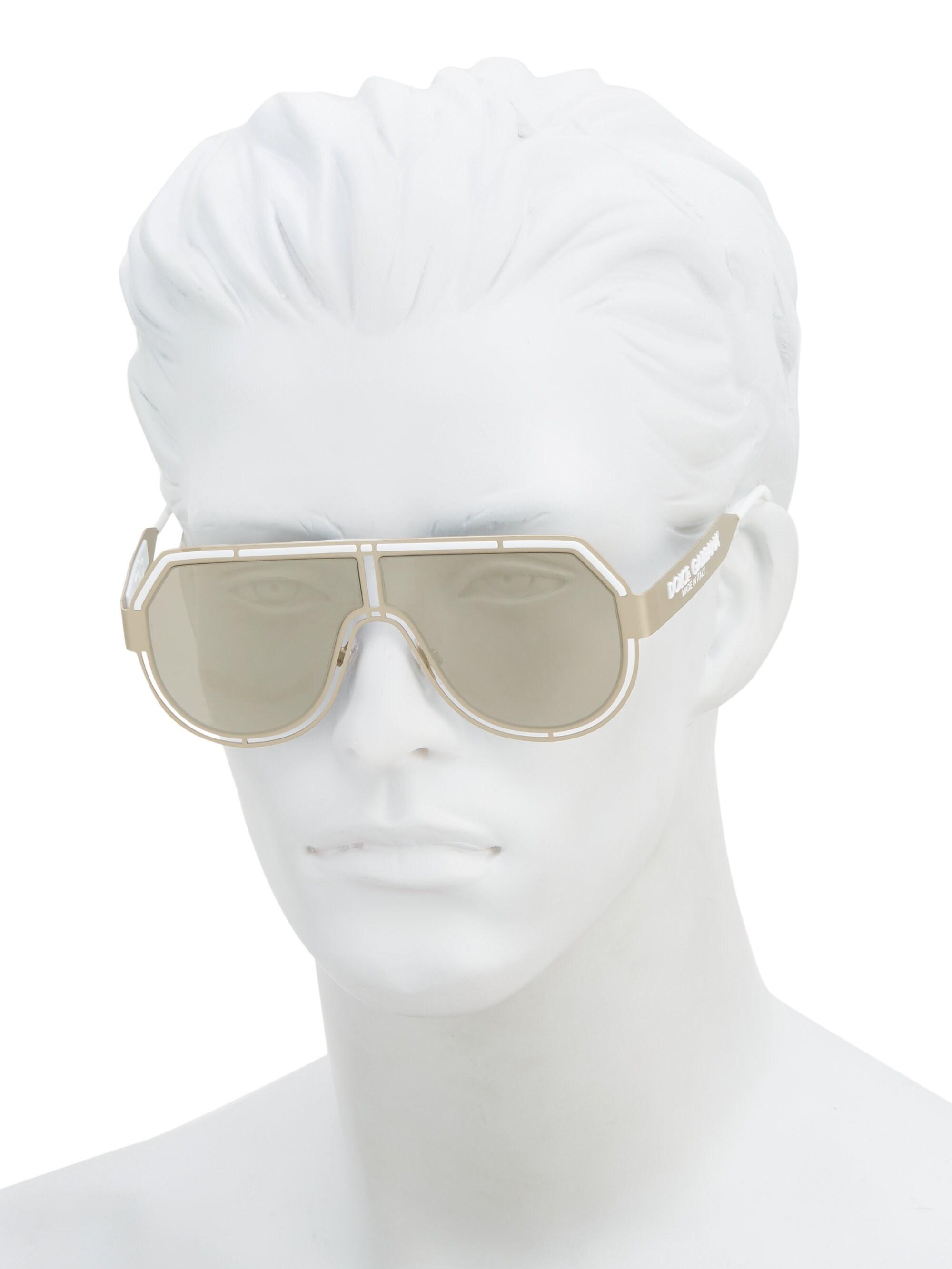 851100d1bc1e Dolce & Gabbana - Metallic Men's Charisma 59mm Mirrored Aviator Sunglasses  - Pale Gold for Men. View fullscreen