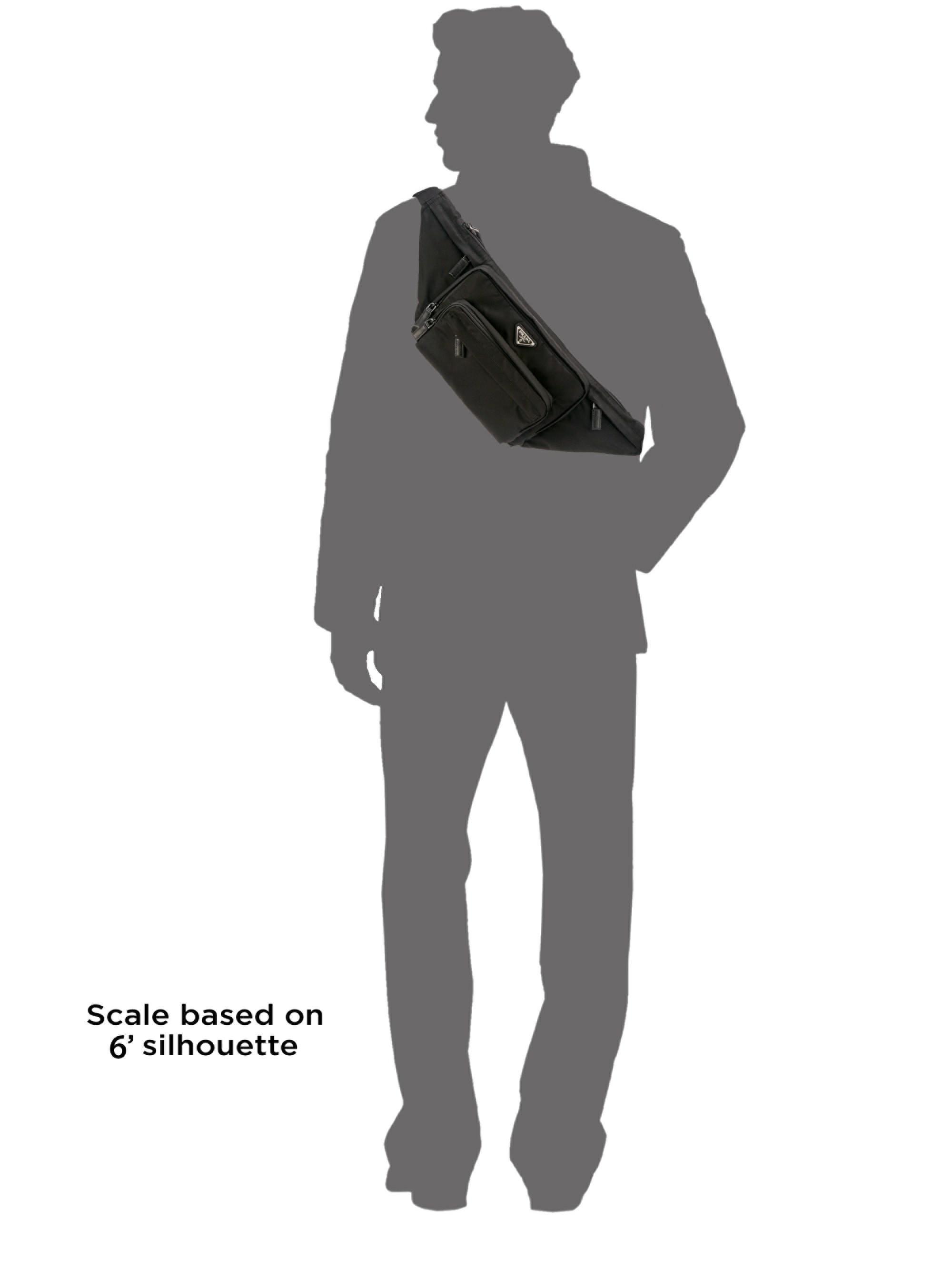 e4e2568916d1 Lyst Prada Tessuto Monna Belt Bag In Black For Men