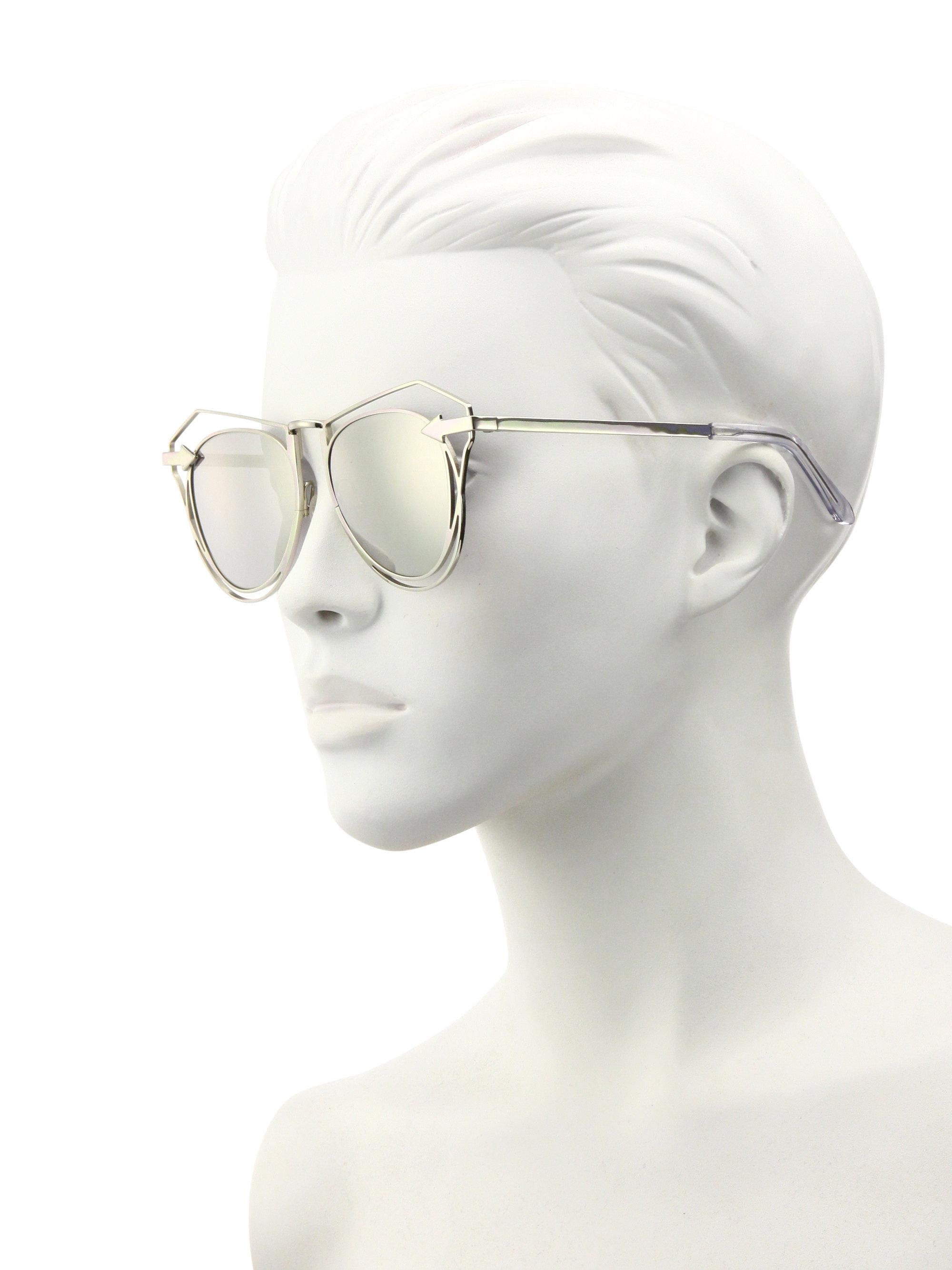 b63c2ee609cdd Karen Walker Marguerite 52mm Mirrored Cutout Cat Eye Sunglasses in ...